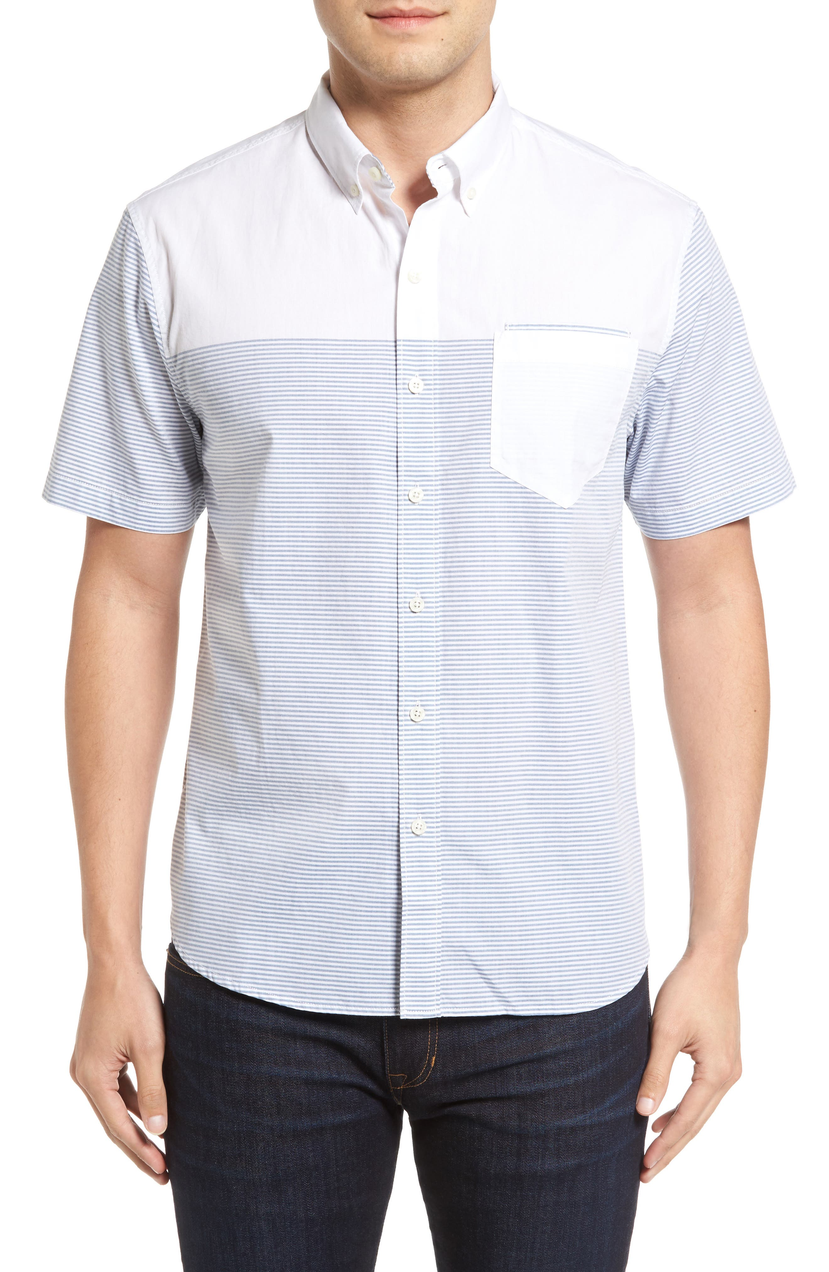 The Yachtsman Standard Fit Cotton Sport Shirt,                         Main,                         color, Bright White