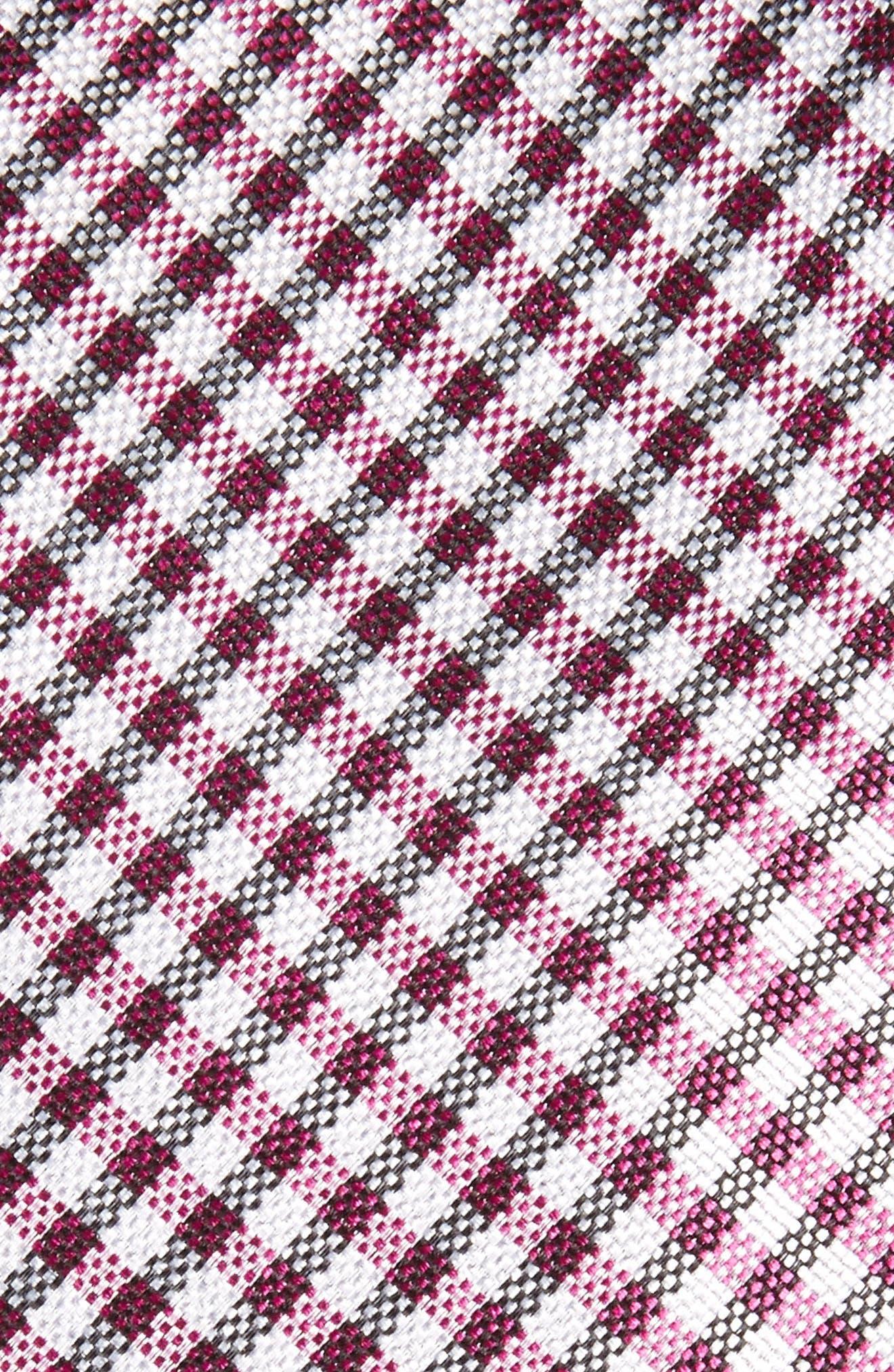 Alternate Image 2  - Nordstrom Men's Shop Check Silk Skinny Tie