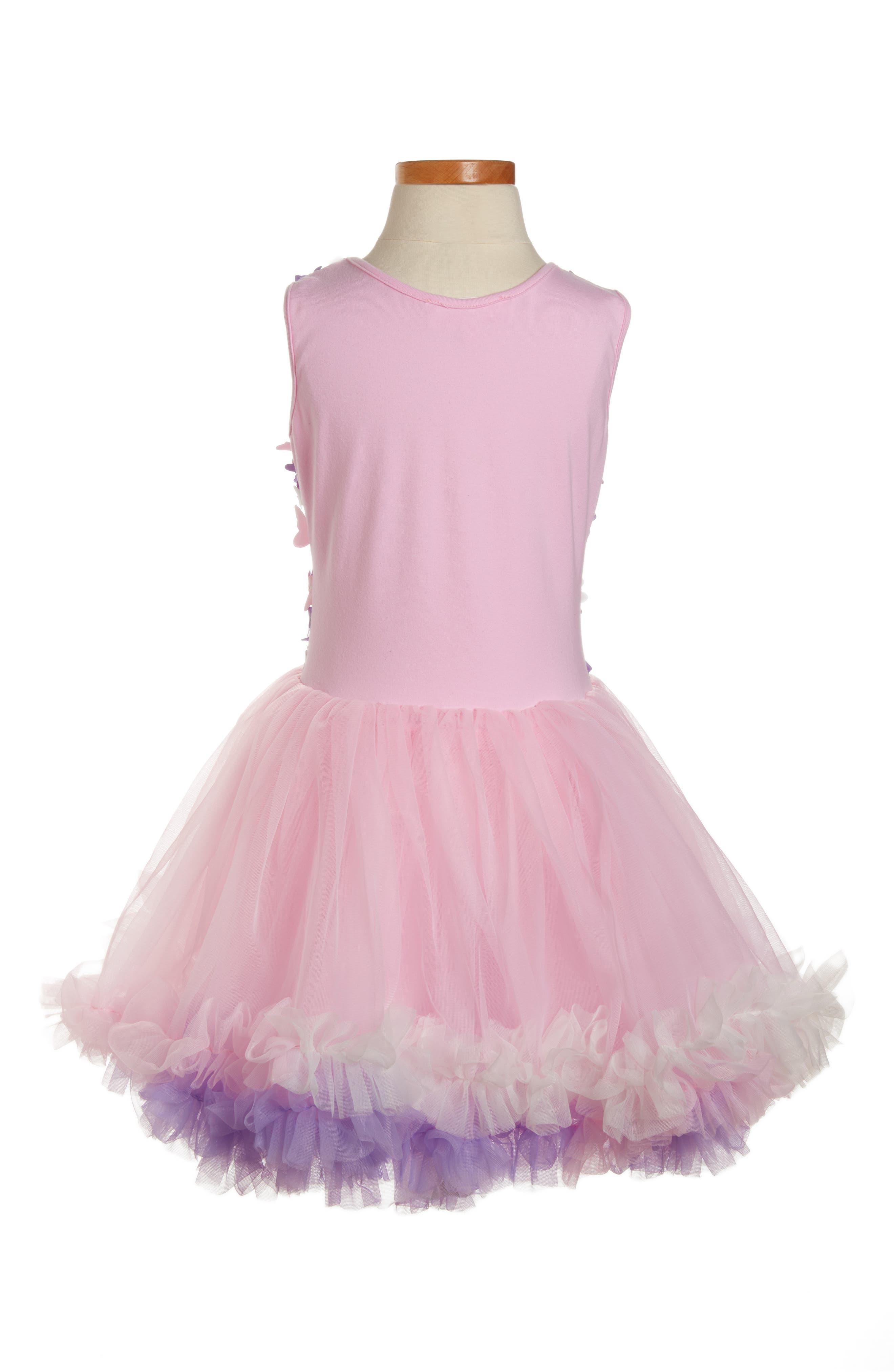 Butterfly Sleeveless Dress,                             Alternate thumbnail 2, color,                             Pink/ Purple Multi