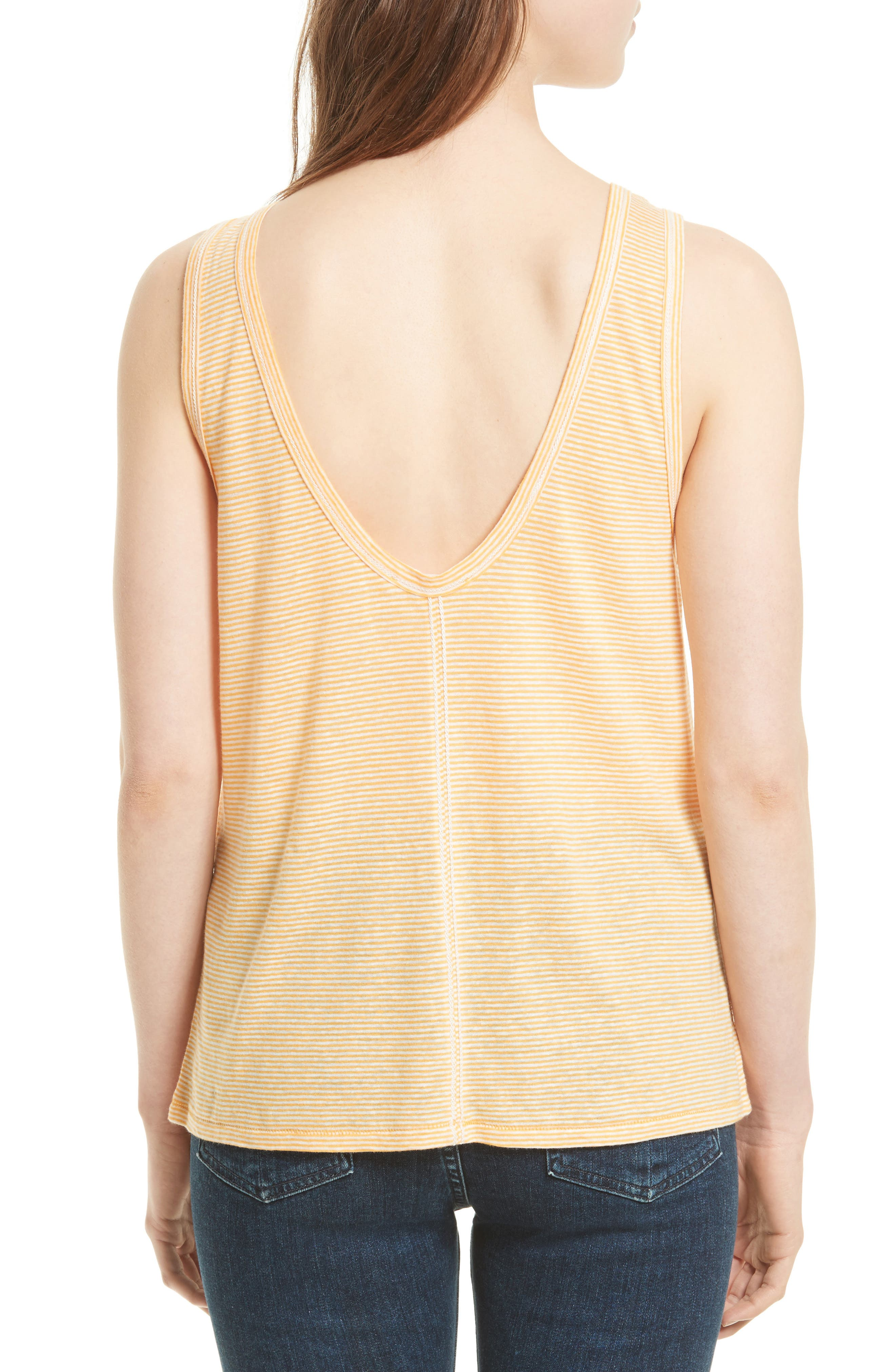 Alternate Image 2  - rag & bone/JEAN Ryder Stripe Linen Blend Tank