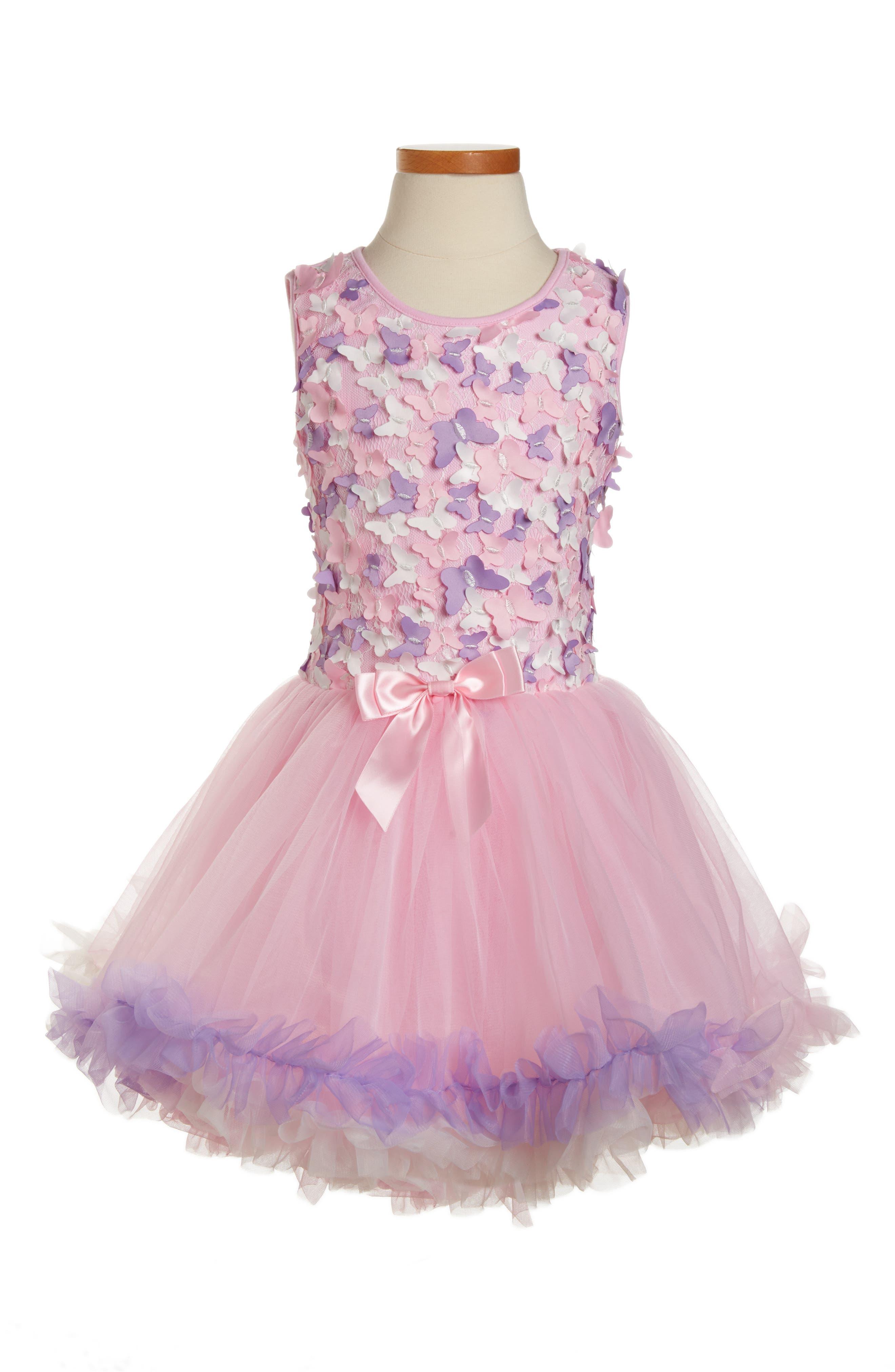 Butterfly Sleeveless Dress,                         Main,                         color, Pink/ Purple Multi
