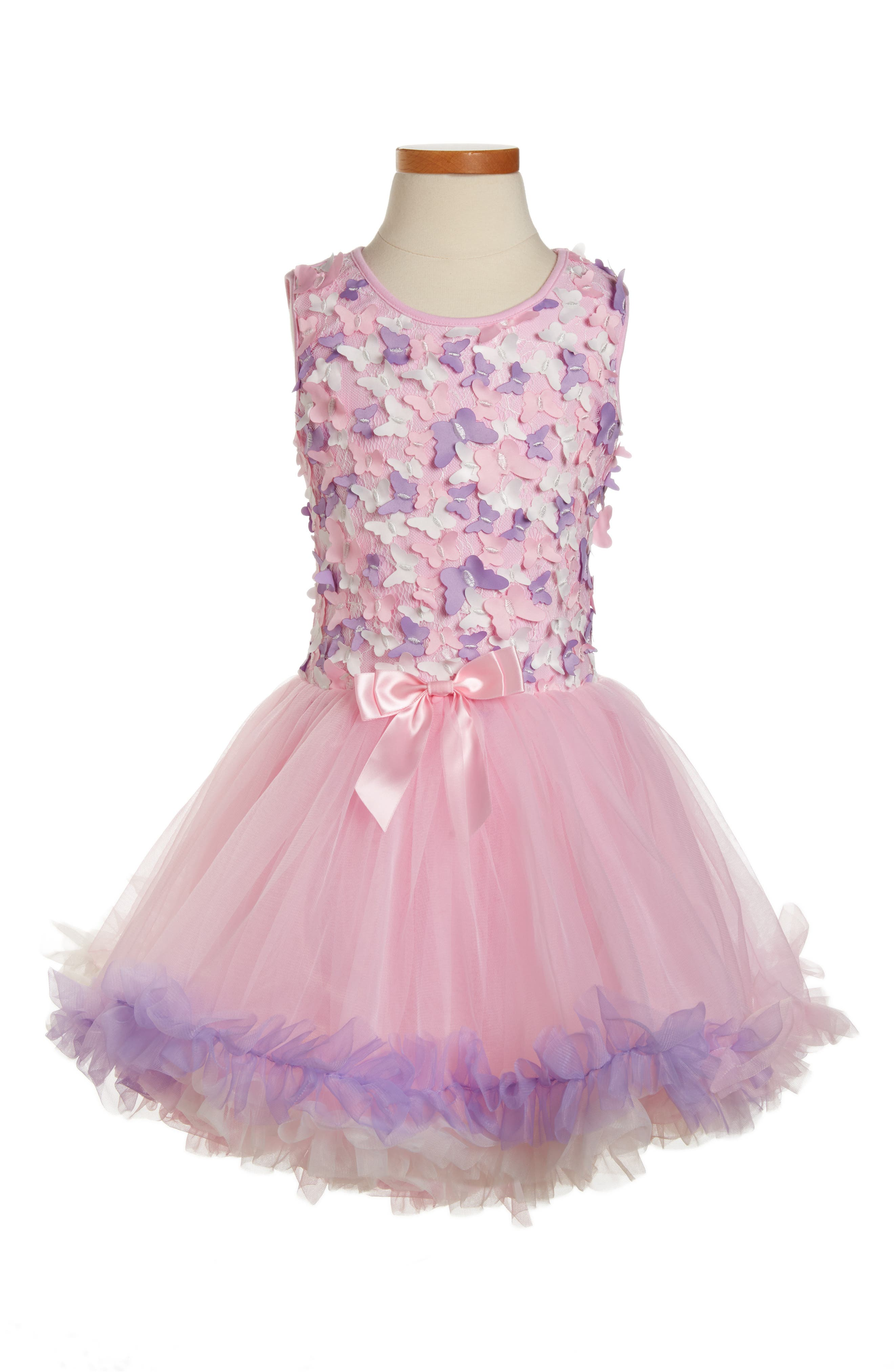Popatu Butterfly Sleeveless Dress (Toddler Girls, Little Girls & Big Girls)