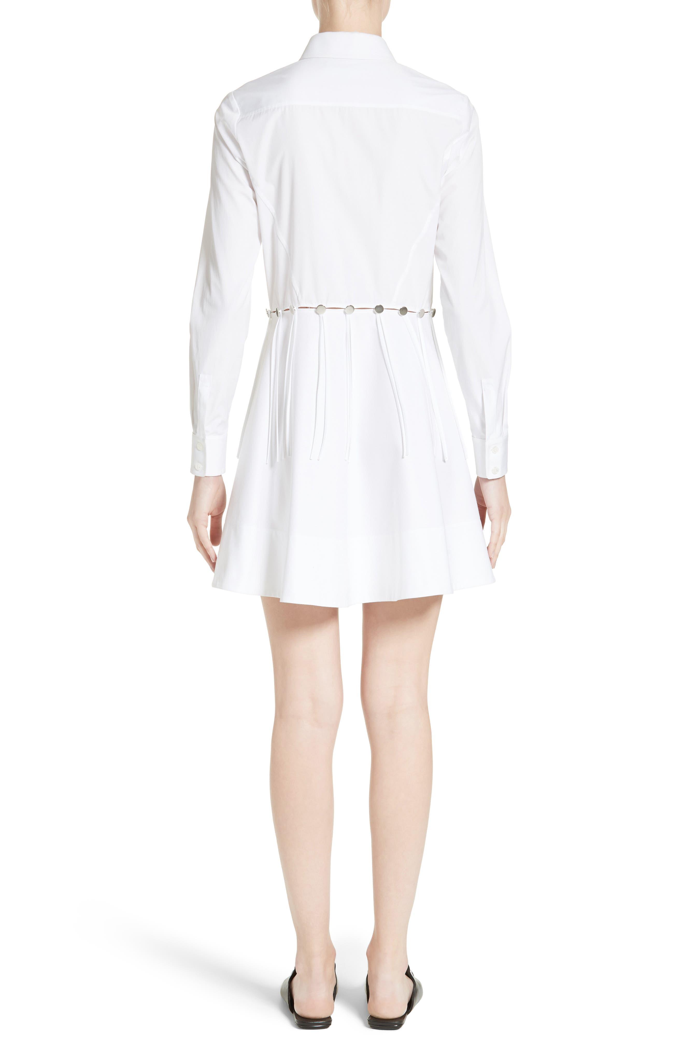 Cotton Poplin Shirtdress,                             Alternate thumbnail 2, color,                             Eggshell