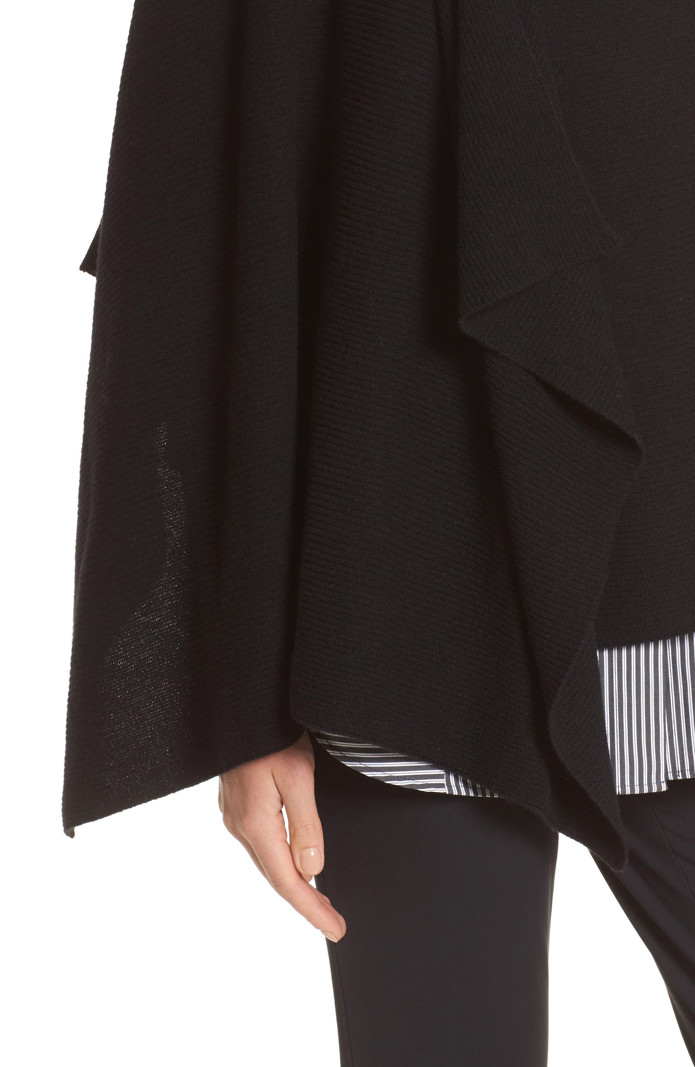 Cashmere Wrap,                             Alternate thumbnail 6, color,                             Black