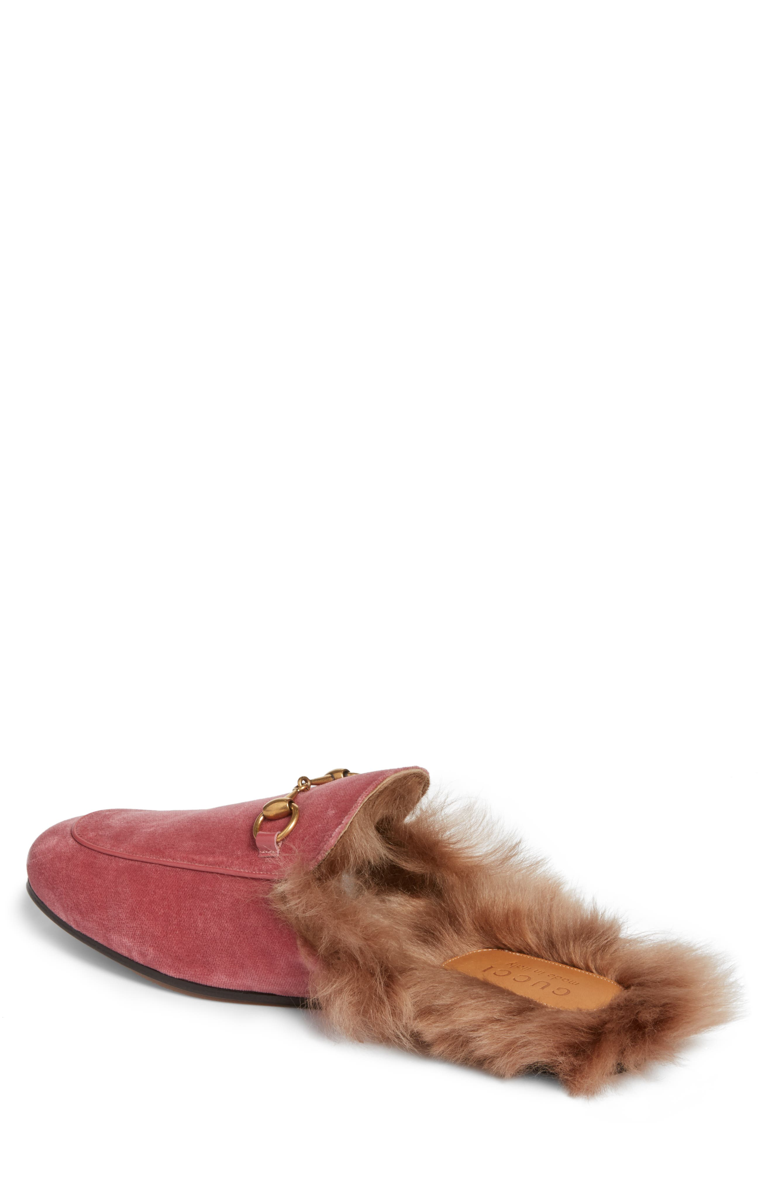 Alternate Image 2  - Gucci Princetown Genuine Shearling Lined Mule Loafer (Men)