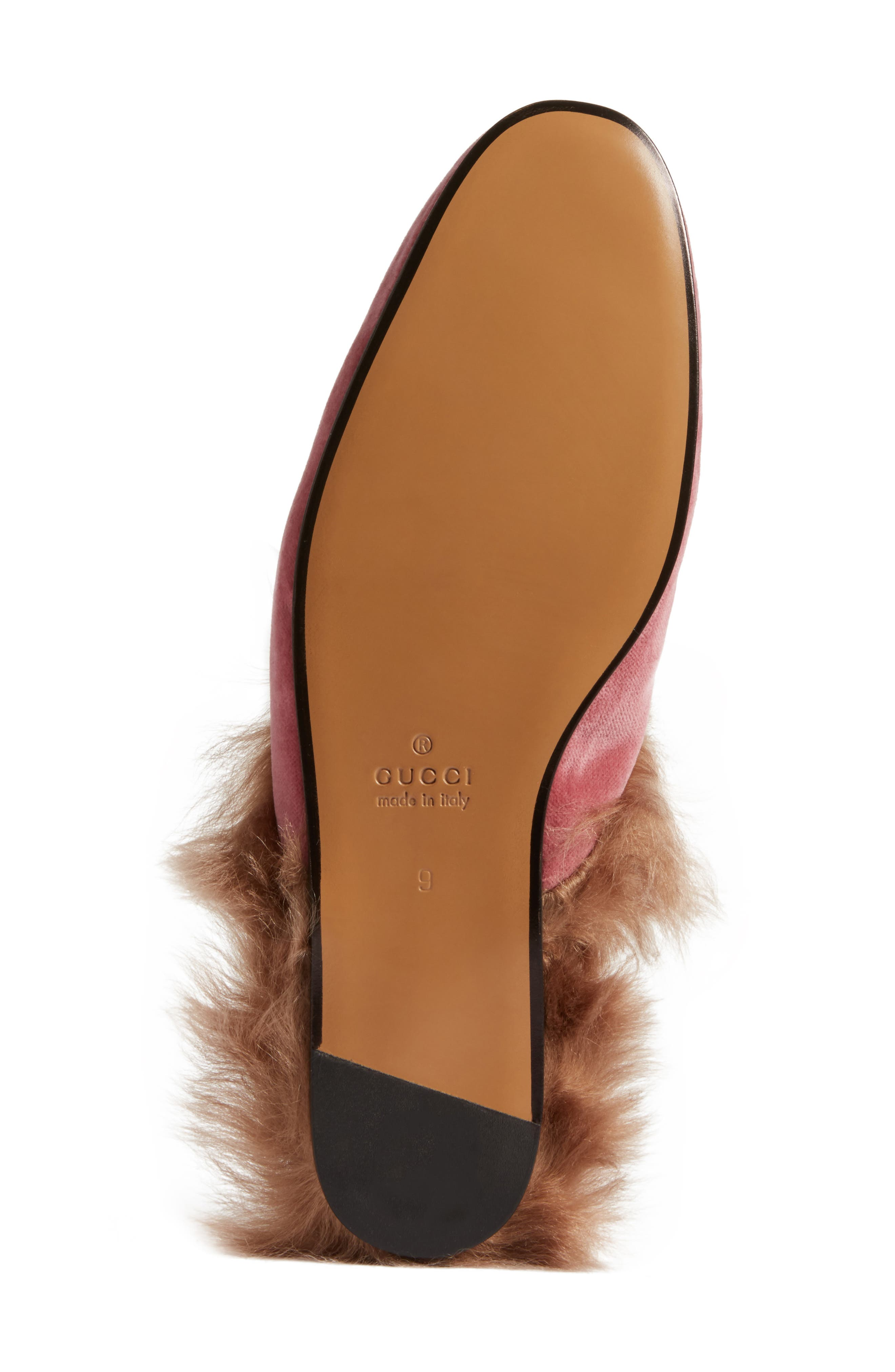 Alternate Image 6  - Gucci Princetown Genuine Shearling Lined Mule Loafer (Men)