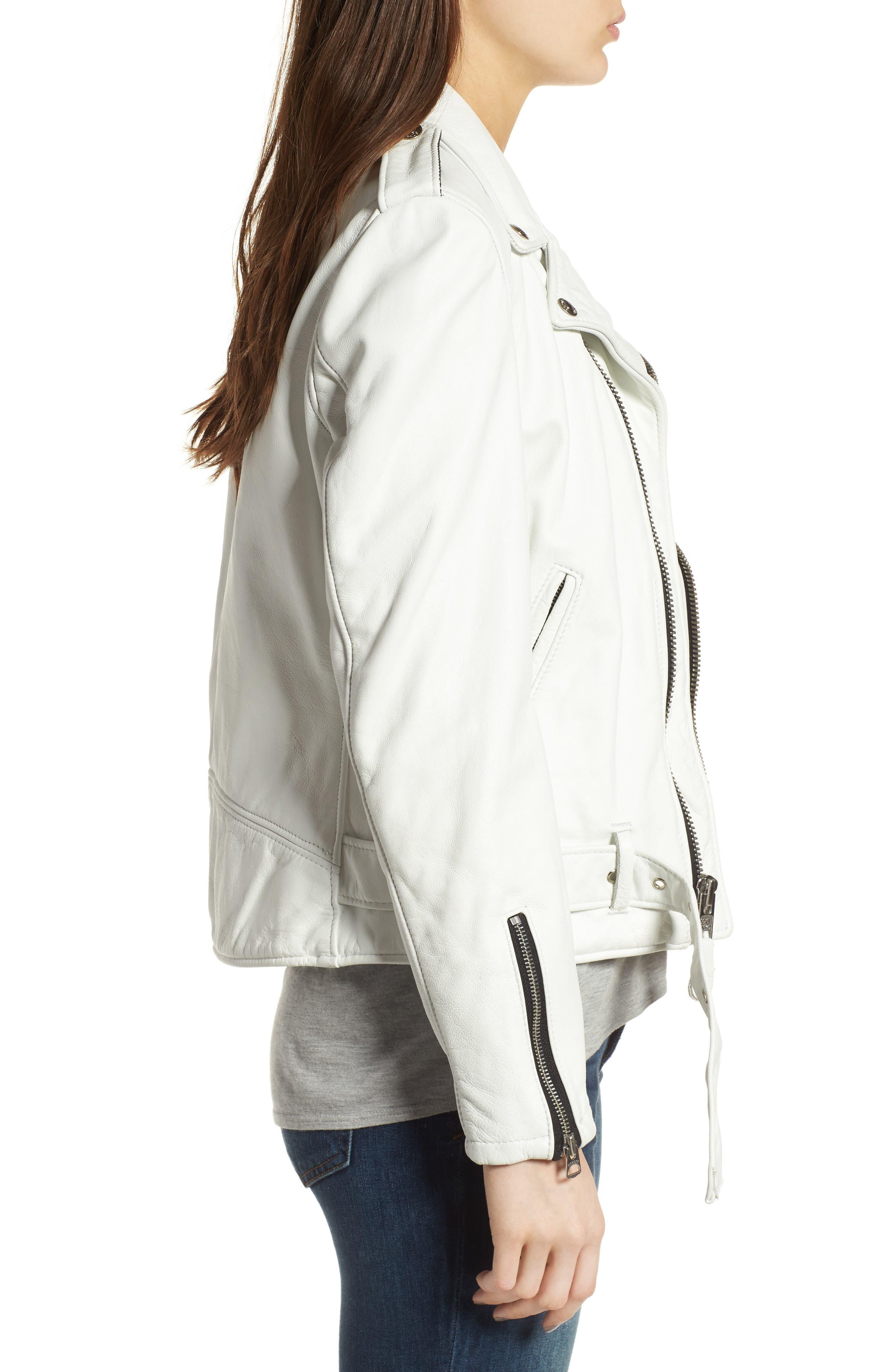 Alternate Image 3  - Schott NYC Boyfriend Leather Jacket