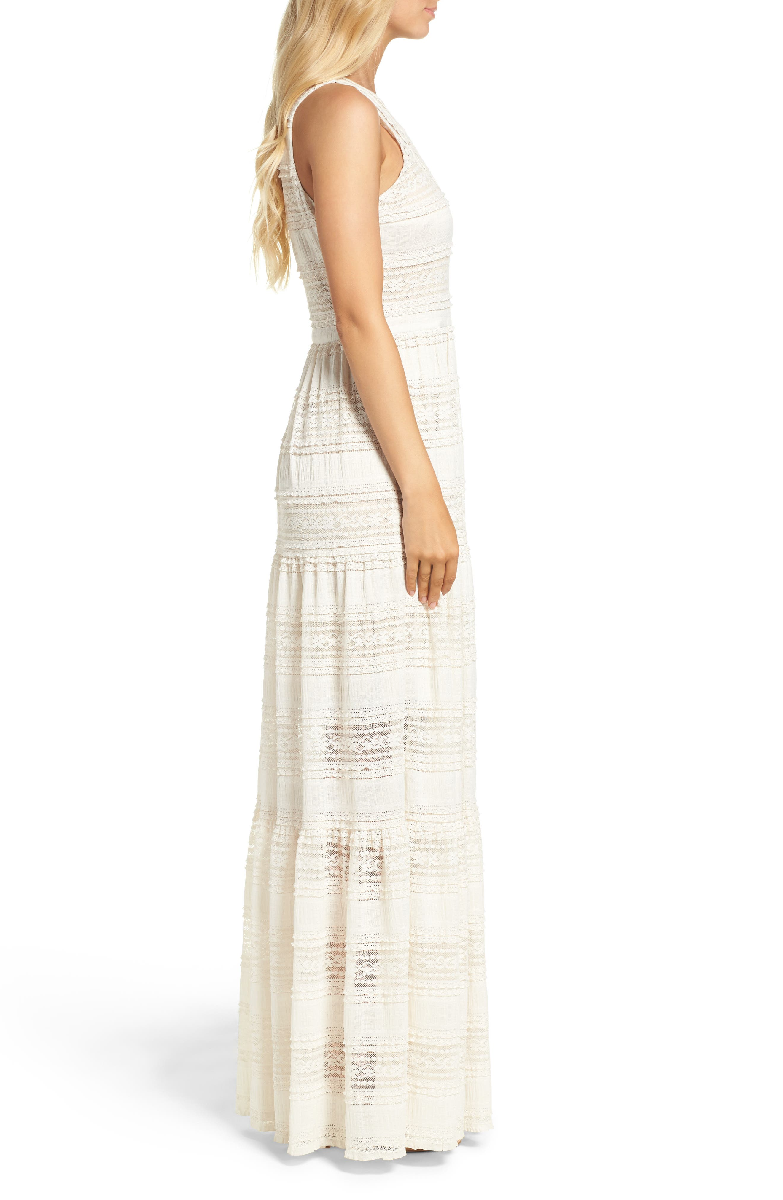 Alternate Image 4  - Eliza J Maxi Dress (Regular & Petite)
