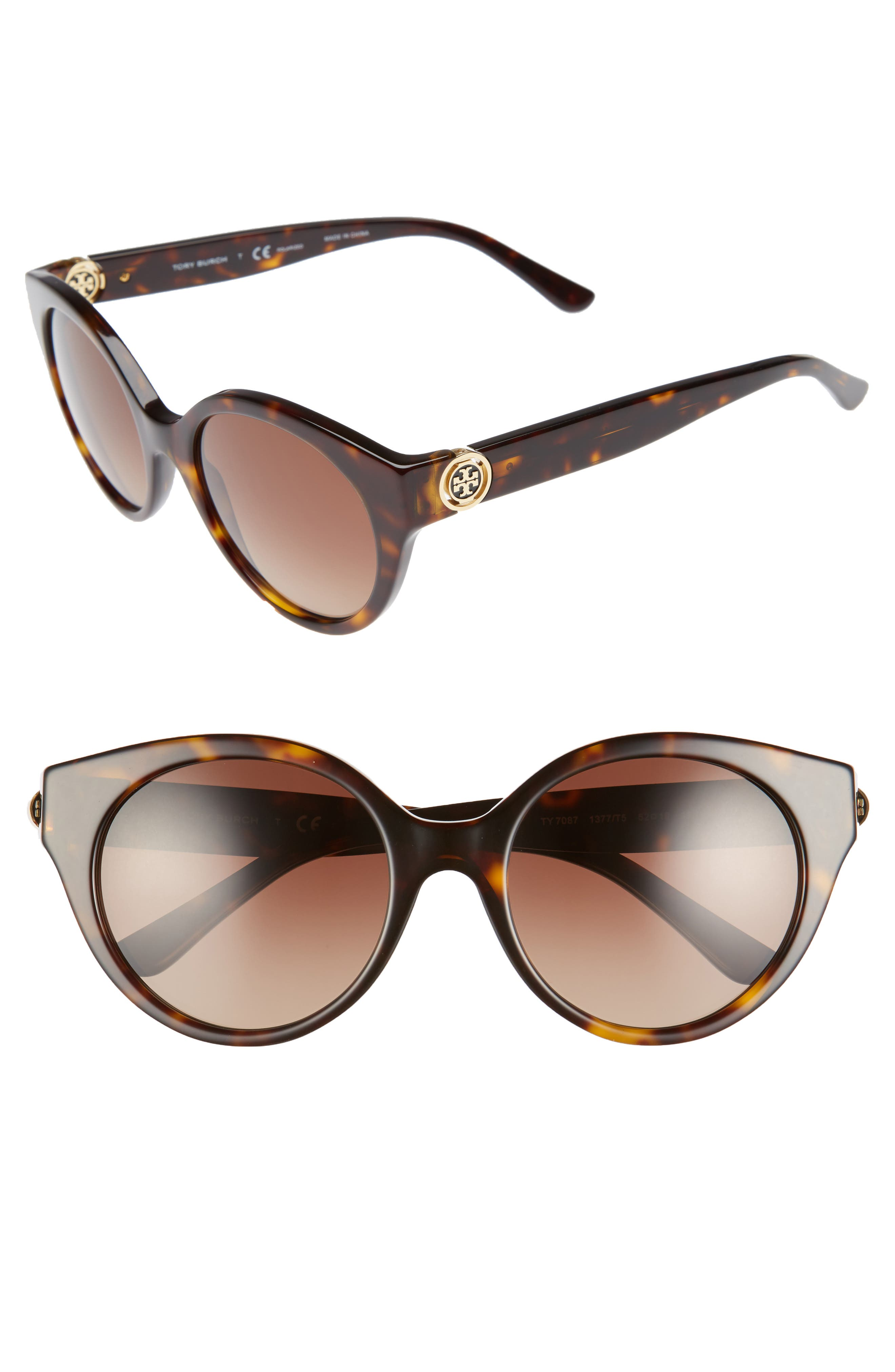 Tory Burch 52mm Cat Eye Sunglasses