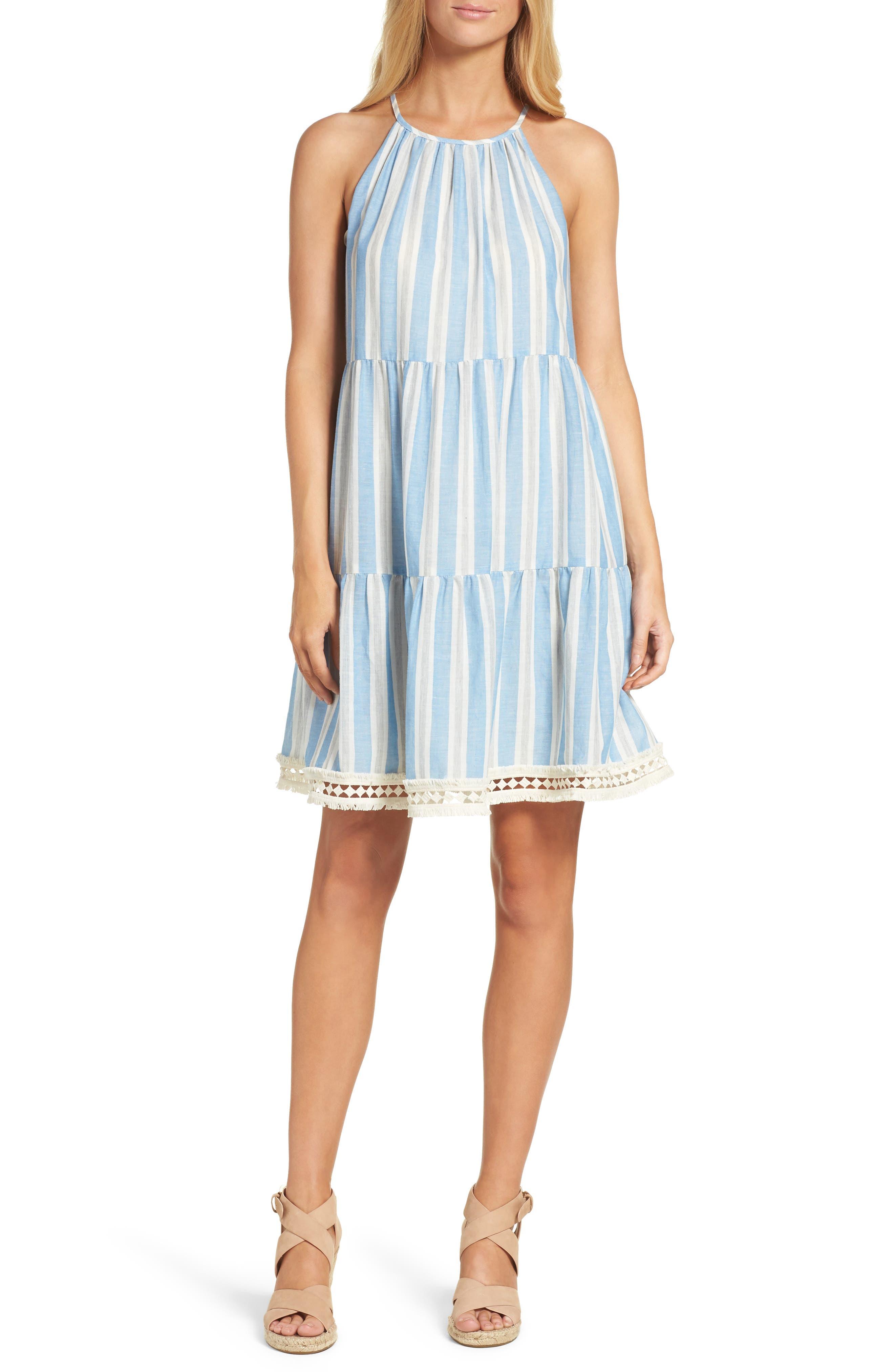 Alternate Image 1 Selected - Maggy London Stripe Shift Dress (Regular & Petite)