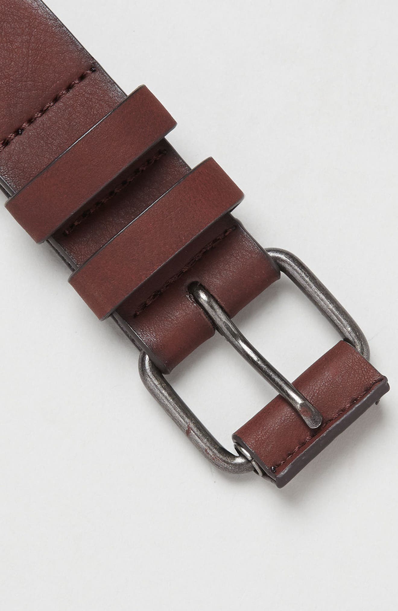 Alternate Image 4  - Topman Faux Leather Belt