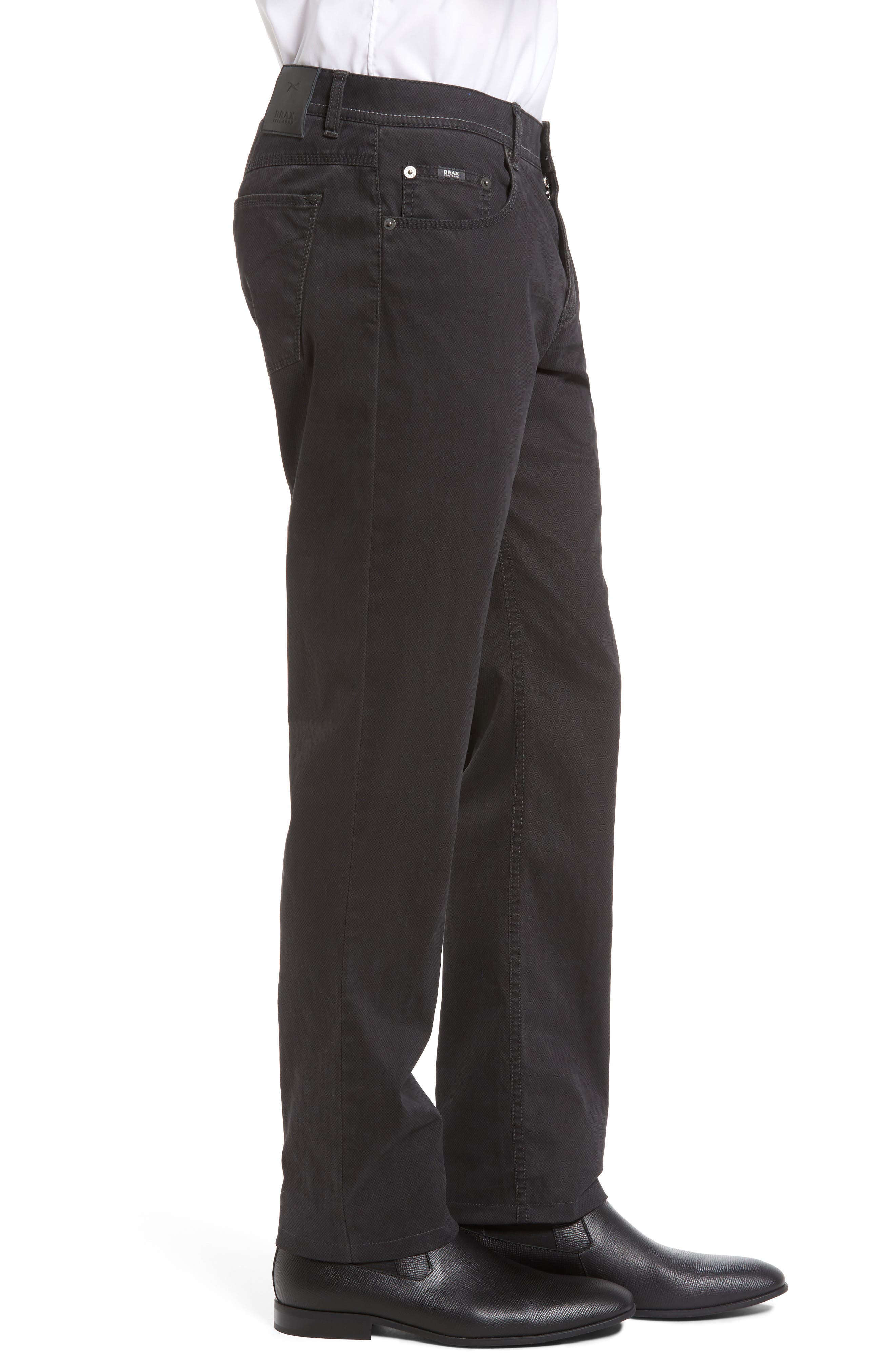 Luxury Stretch Modern Fit Trousers,                             Alternate thumbnail 3, color,                             Charcoal