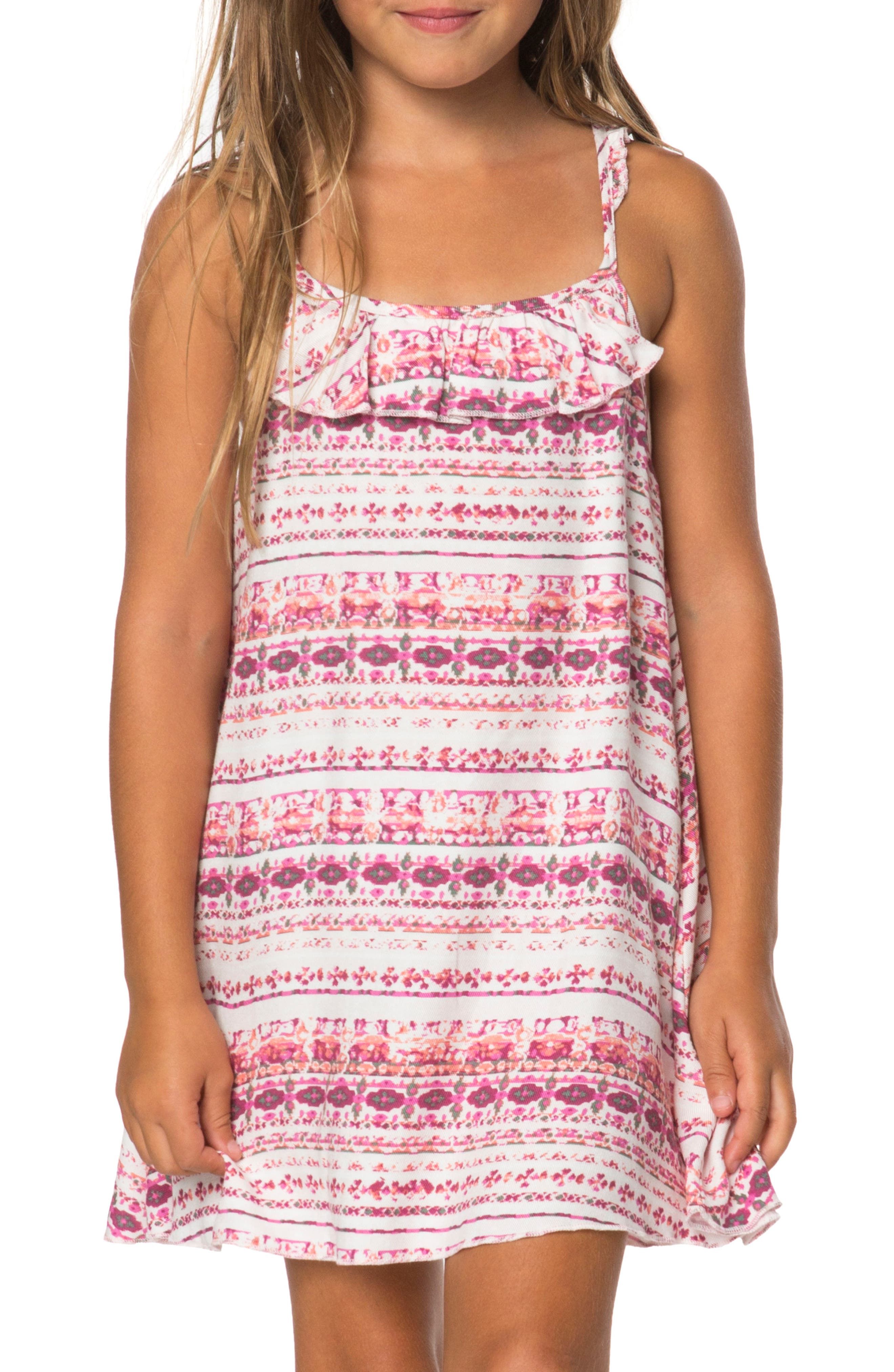 Main Image - O'Neill Andie Floral Stripe Sundress (Toddler Girls & Little Girls)