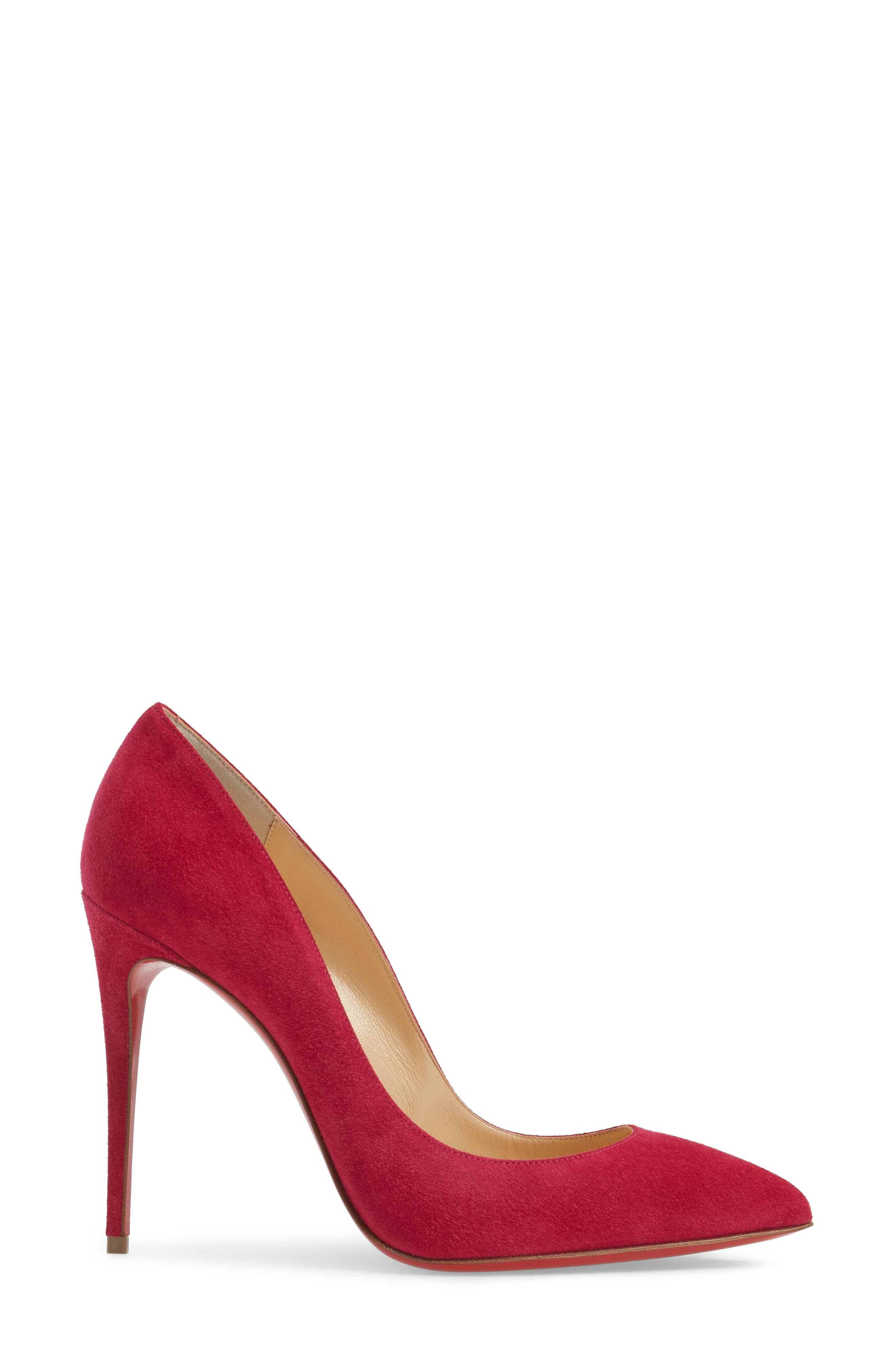 Pigalle Follies Pointy Toe Pump,                             Alternate thumbnail 3, color,                             Rosa Suede