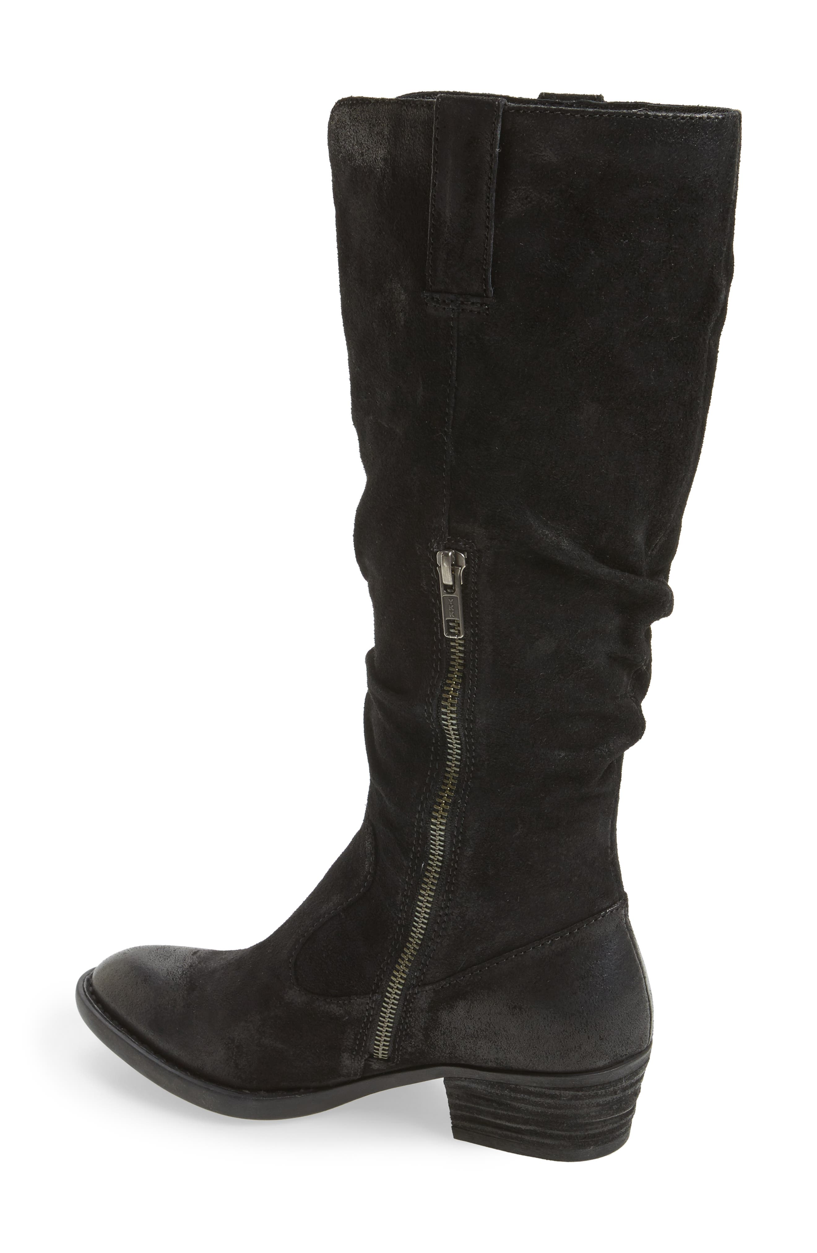 Barren Boot,                             Alternate thumbnail 2, color,                             Black Distressed Leather