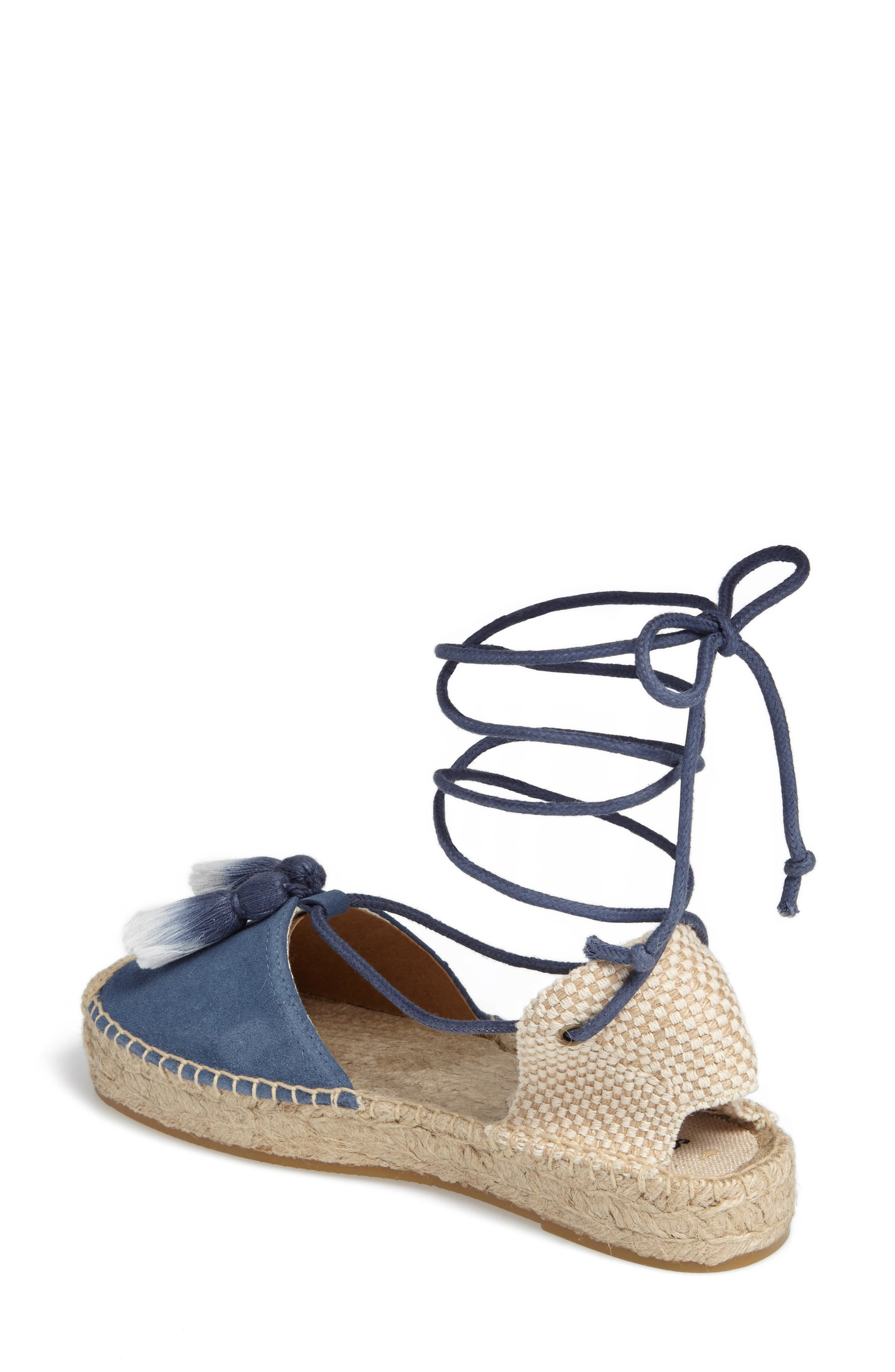 Alternate Image 2  - Soludos Tassel Lace-Up Espadrille (Women)