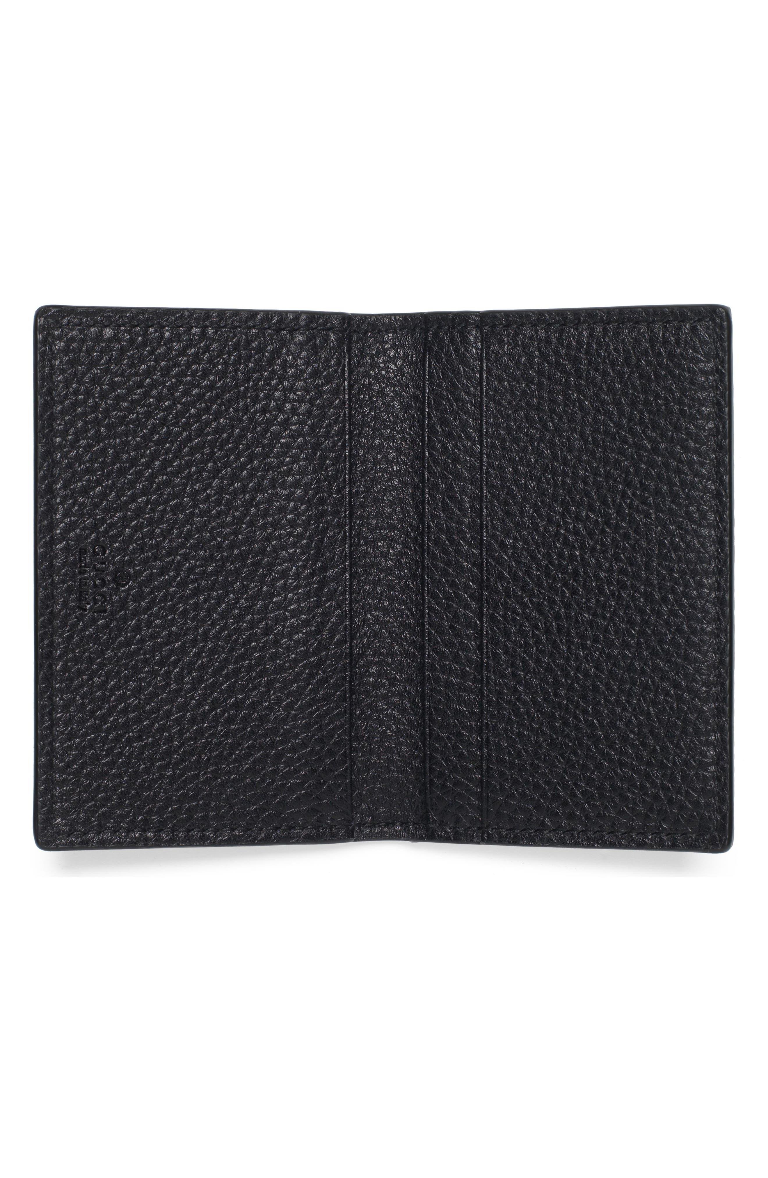 L'Aveugle Par Amour Leather Card Case,                             Alternate thumbnail 2, color,                             Nero