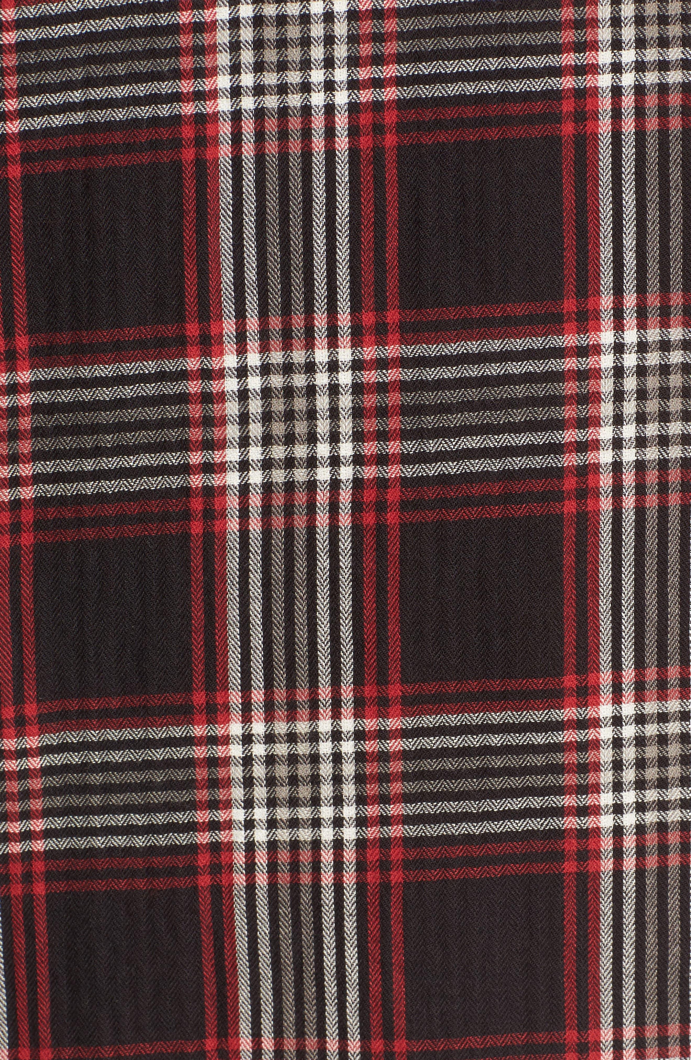 Alternate Image 5  - Caslon® Bell Sleeve Plaid Shift Dress