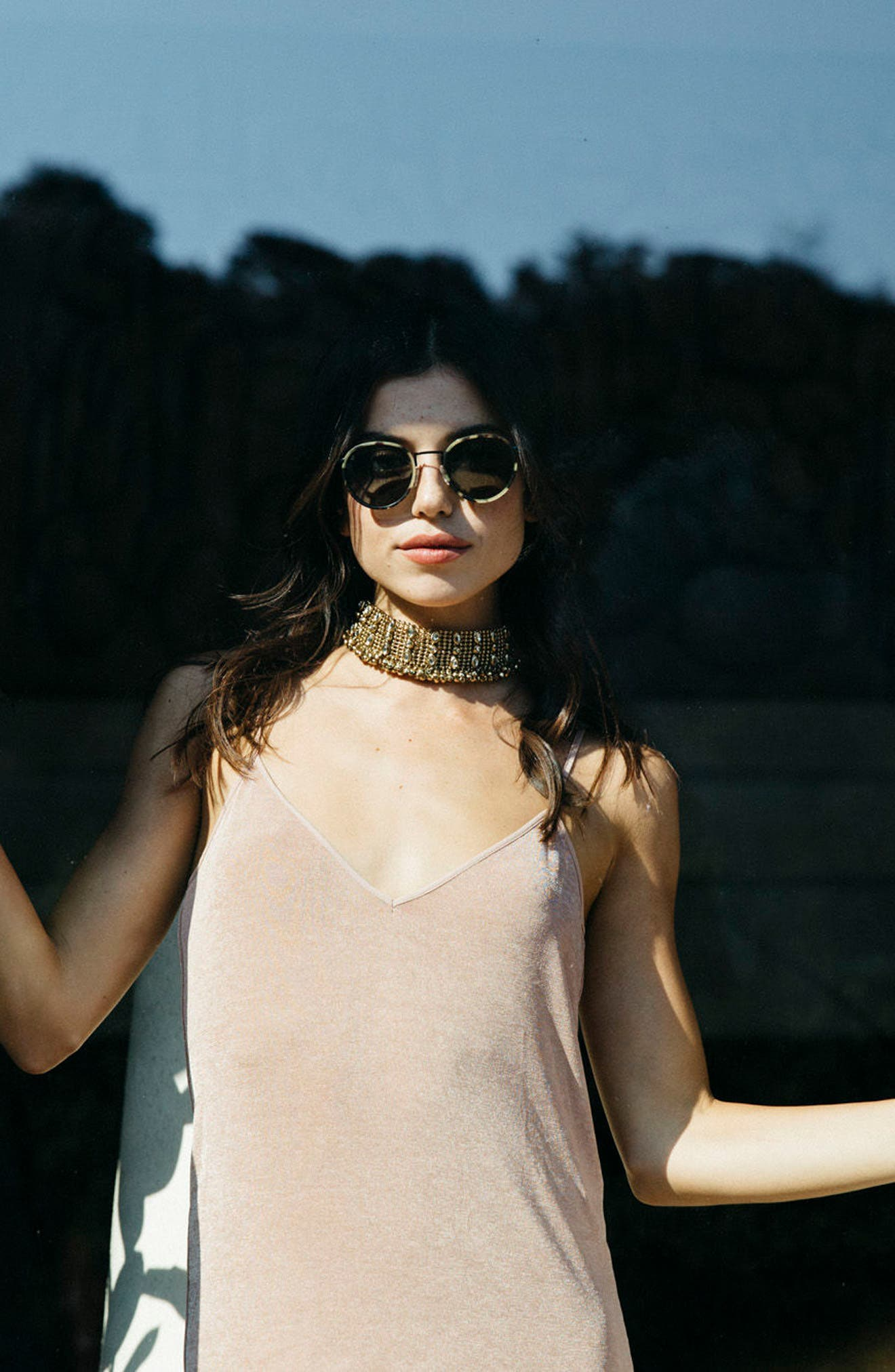 Alternate Image 4  - D'BLANC Prologue 48mm Round Sunglasses