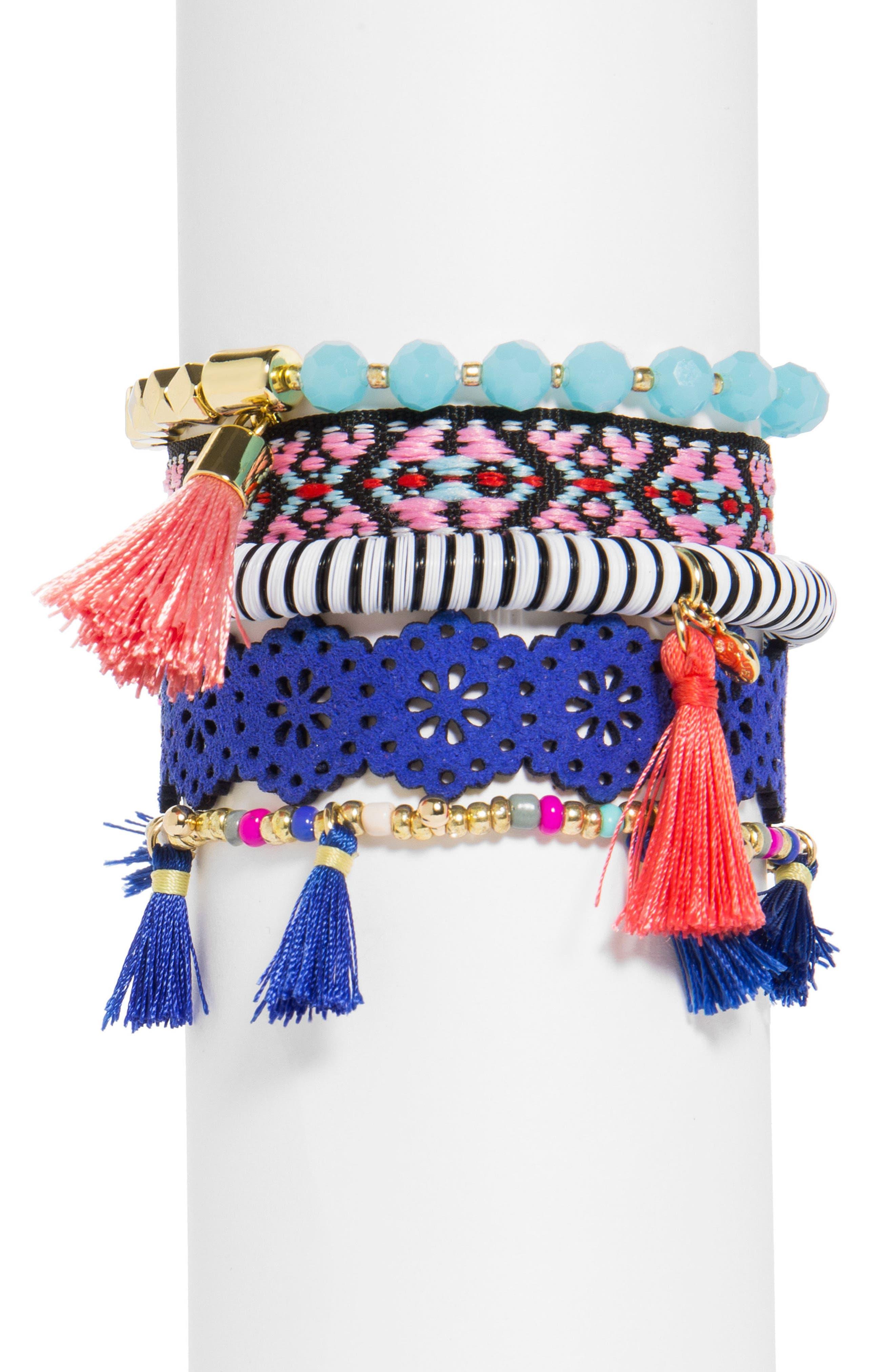 Alternate Image 1 Selected - BaubleBar Mahala Set of 5 Bracelets