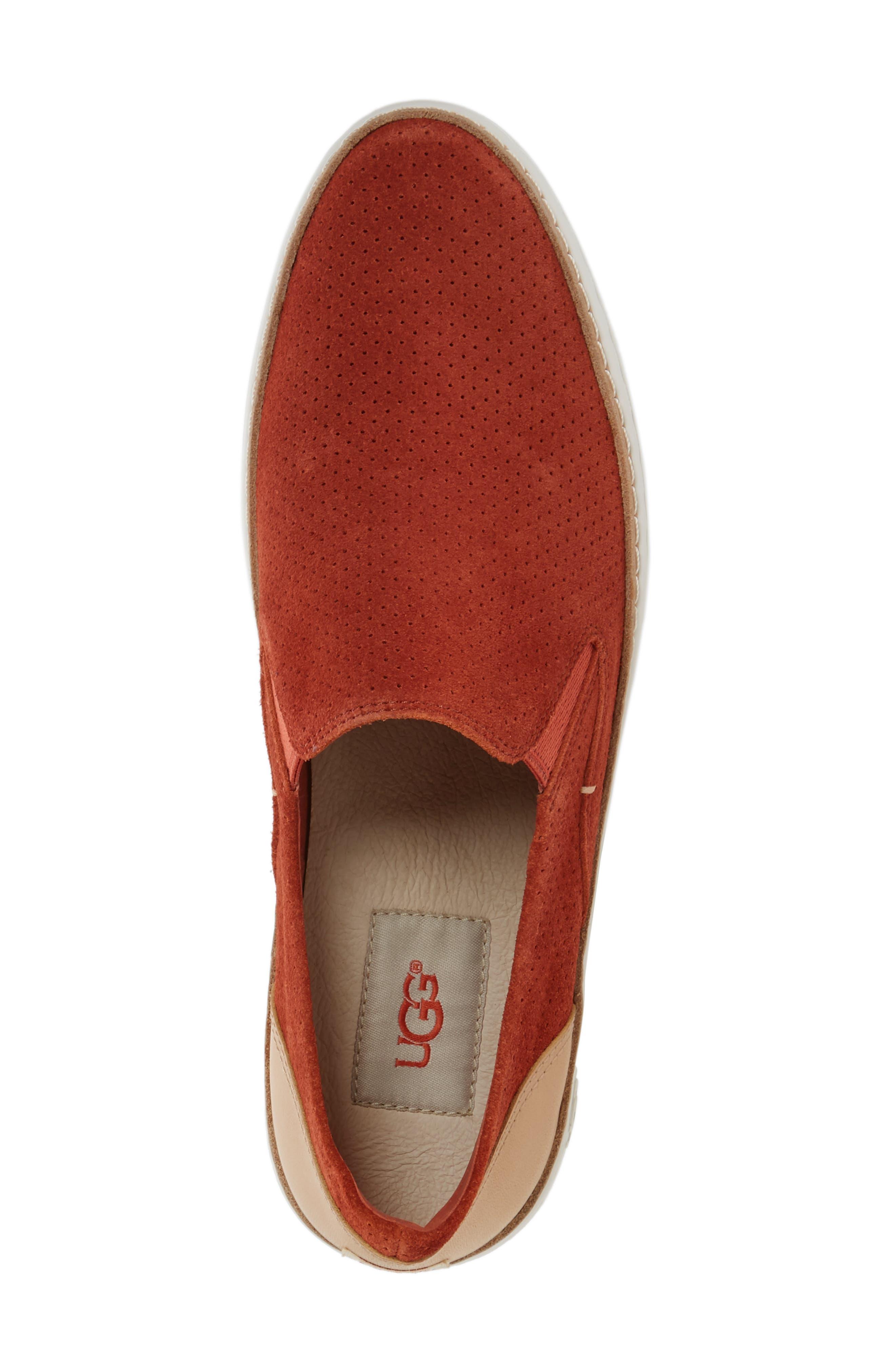 Adley Slip-On Sneaker,                             Alternate thumbnail 5, color,                             Paprika Suede