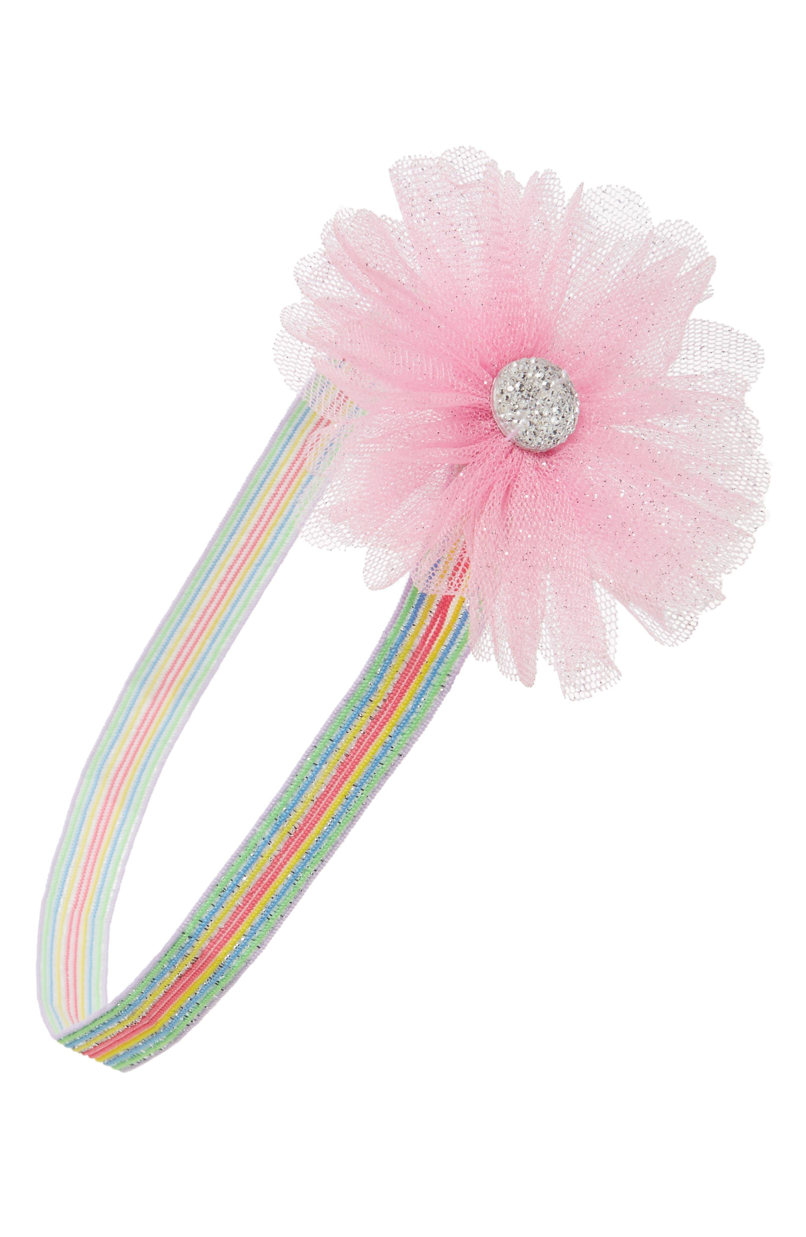 PLH Bows & Laces Embellished Glitter Headband (Baby Girls)