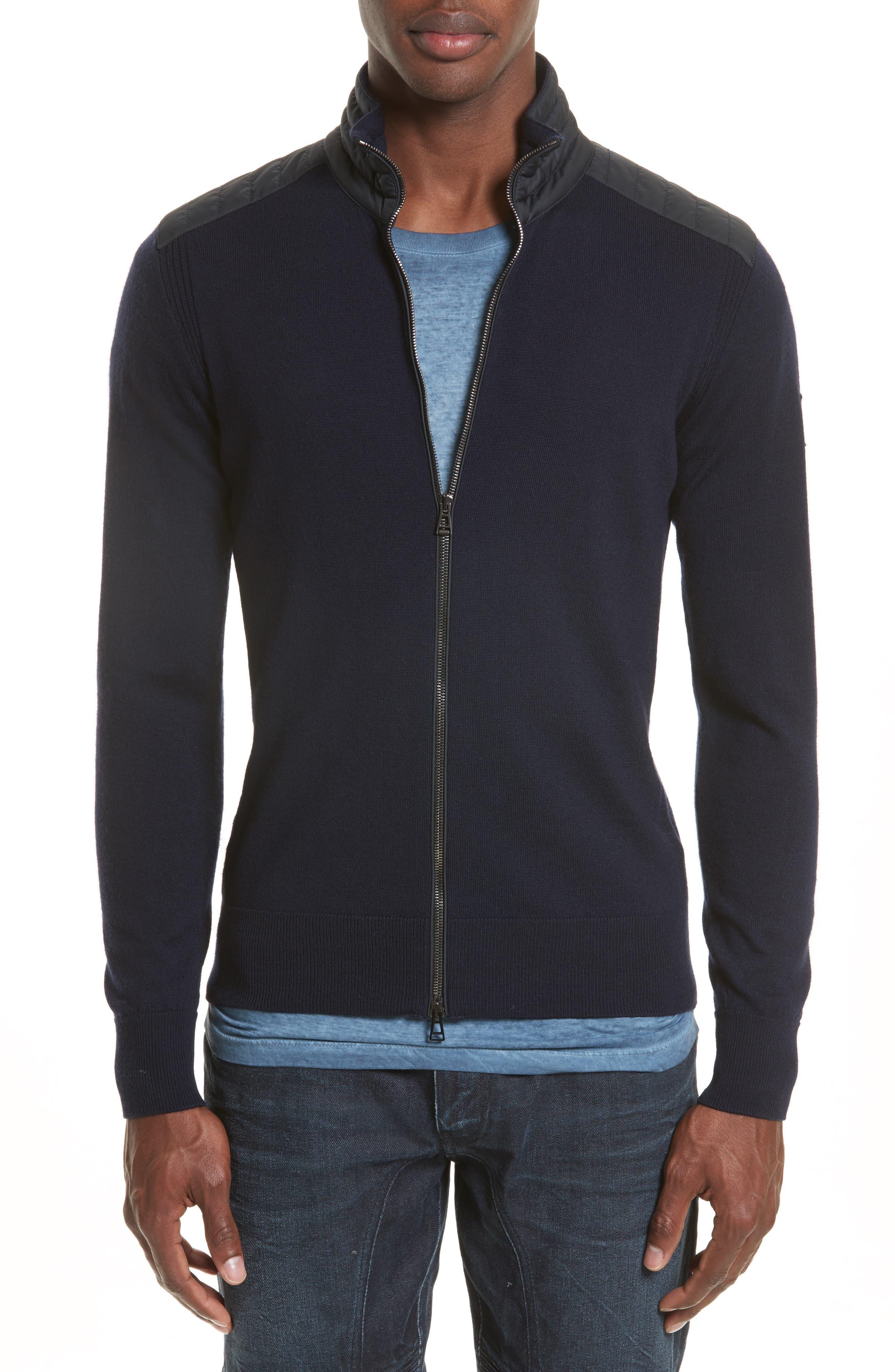 Belstaff 'Kelby' Full Zip Wool Sweater