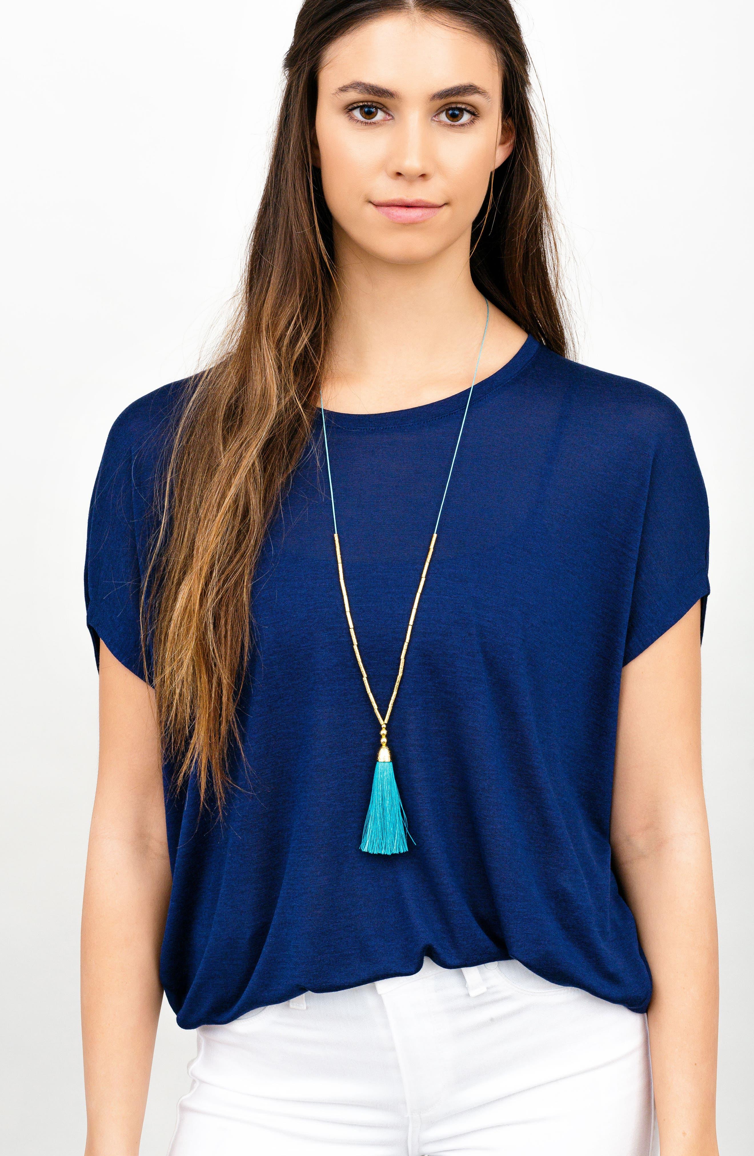 Alternate Image 3  - gorjana Tulum Long Tassel Pendant Necklace