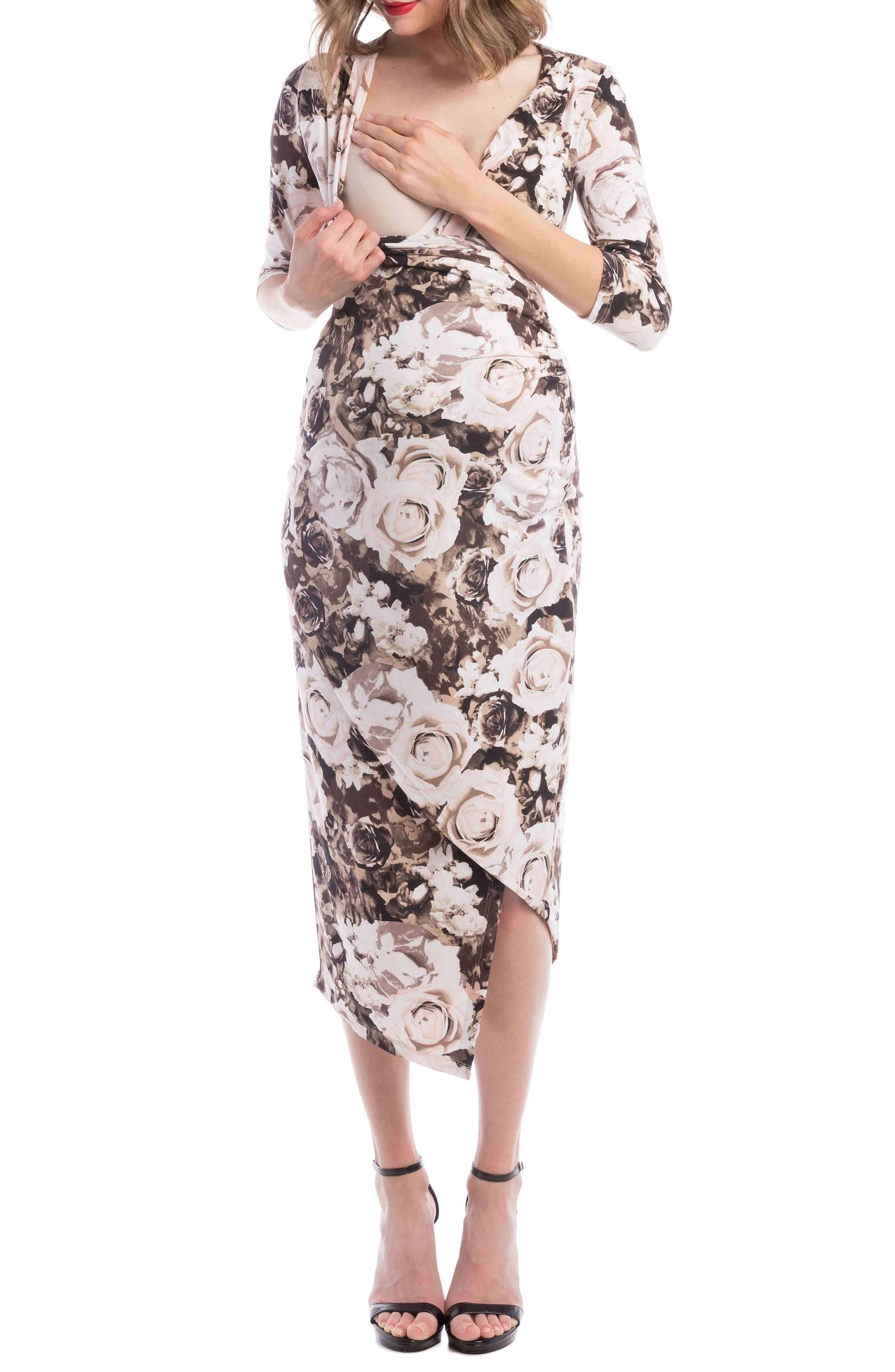 Alternate Image 4  - Lilac Clothing Carly Faux Wrap Maternity/Nursing Dress