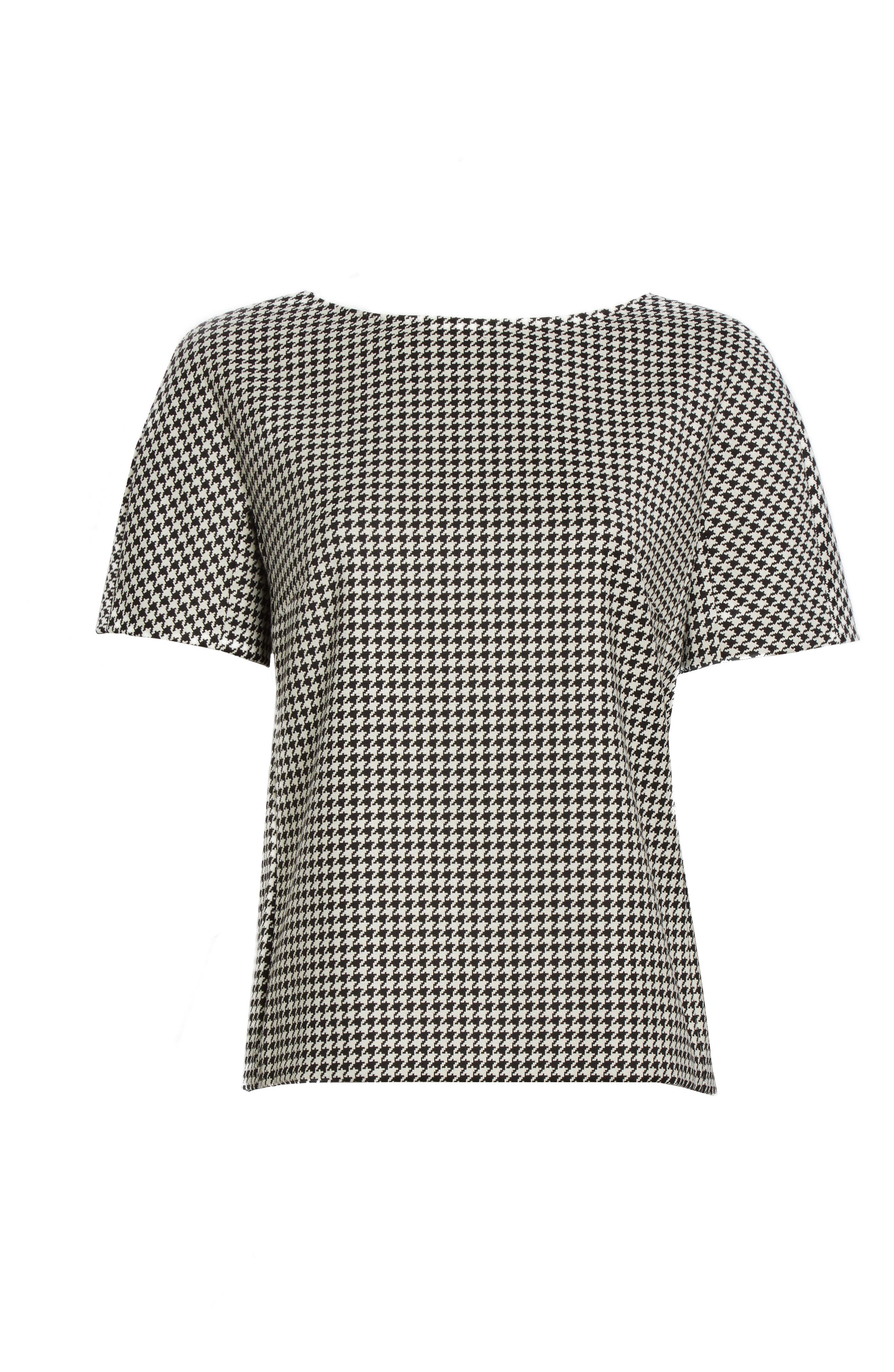 Alternate Image 4  - Max Mara Ares Wool Blend Houndstooth Top