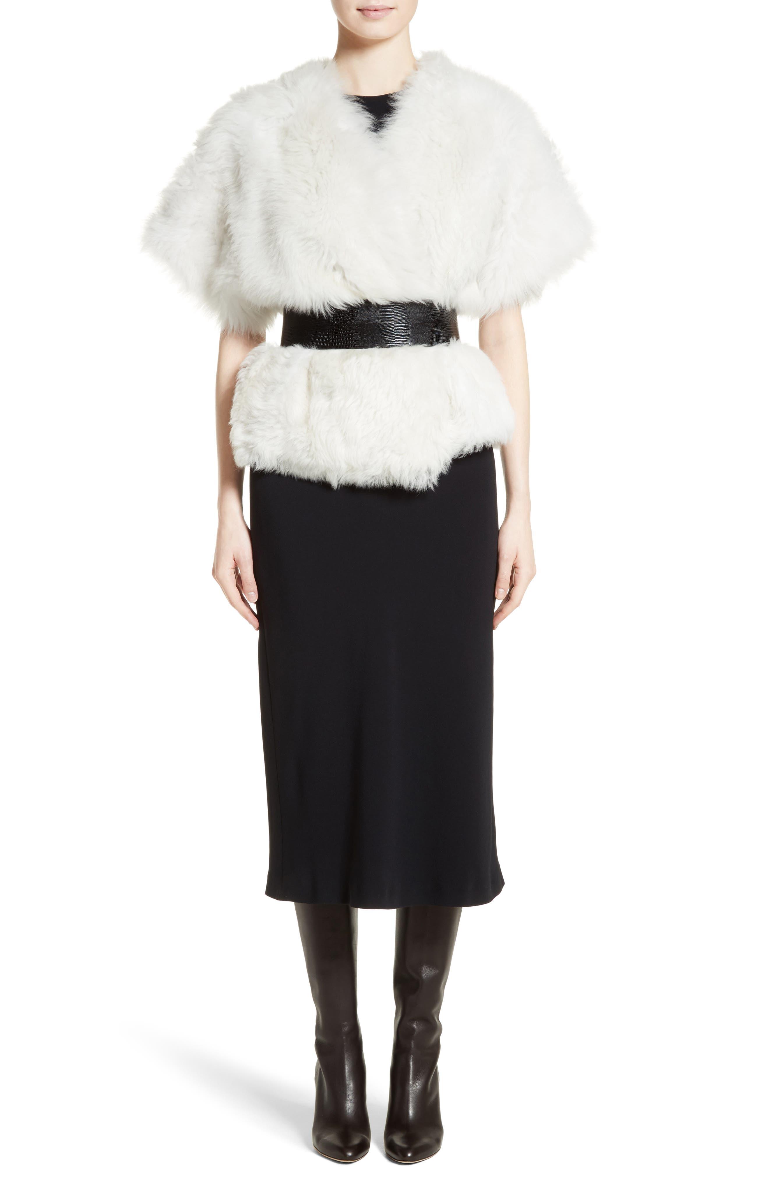 Alternate Image 7  - Max Mara Fiorigi Genuine Lamb Fur Bolero