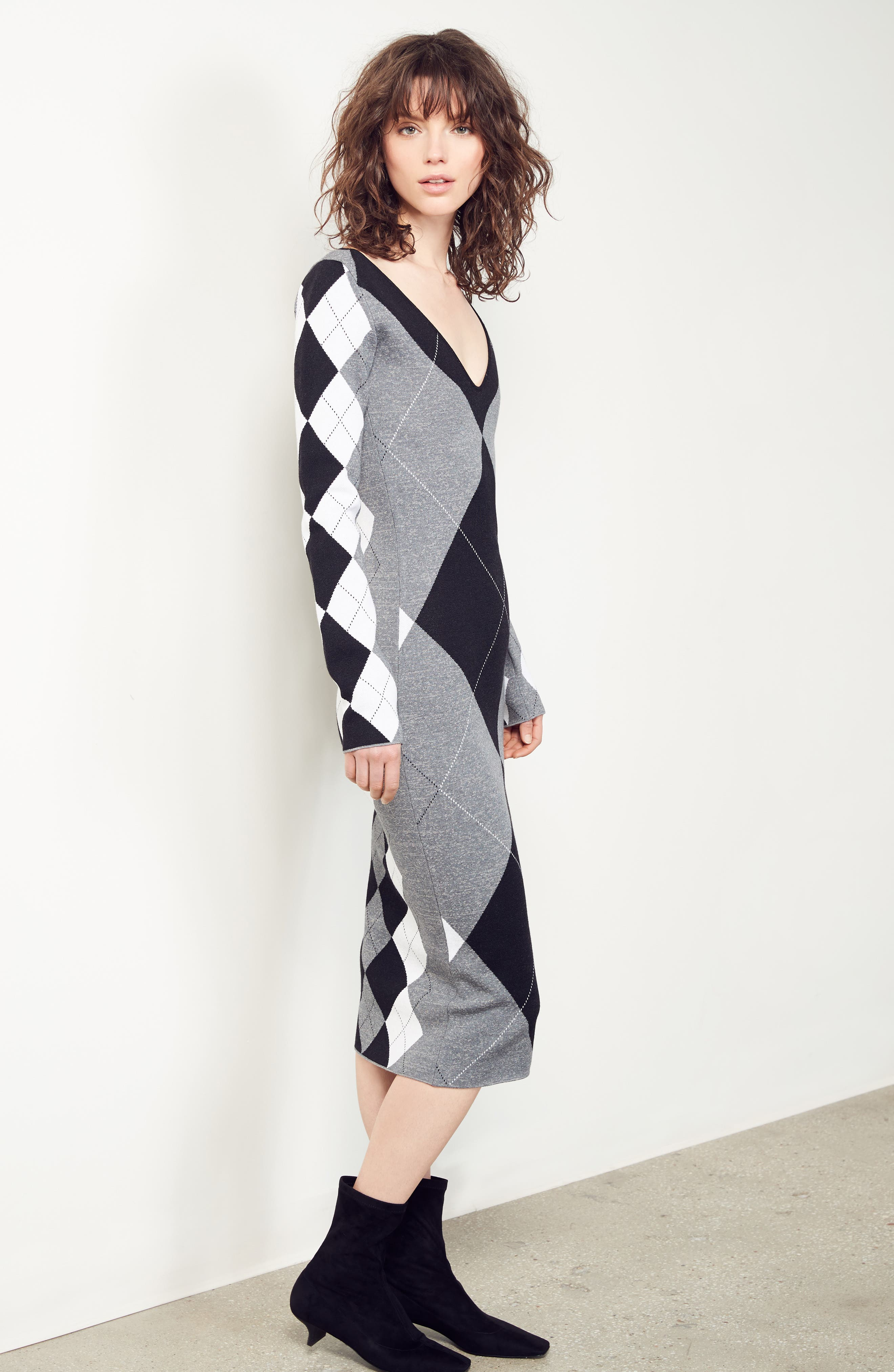 Alternate Image 7  - Stella McCartney Argyle Sweater Dress