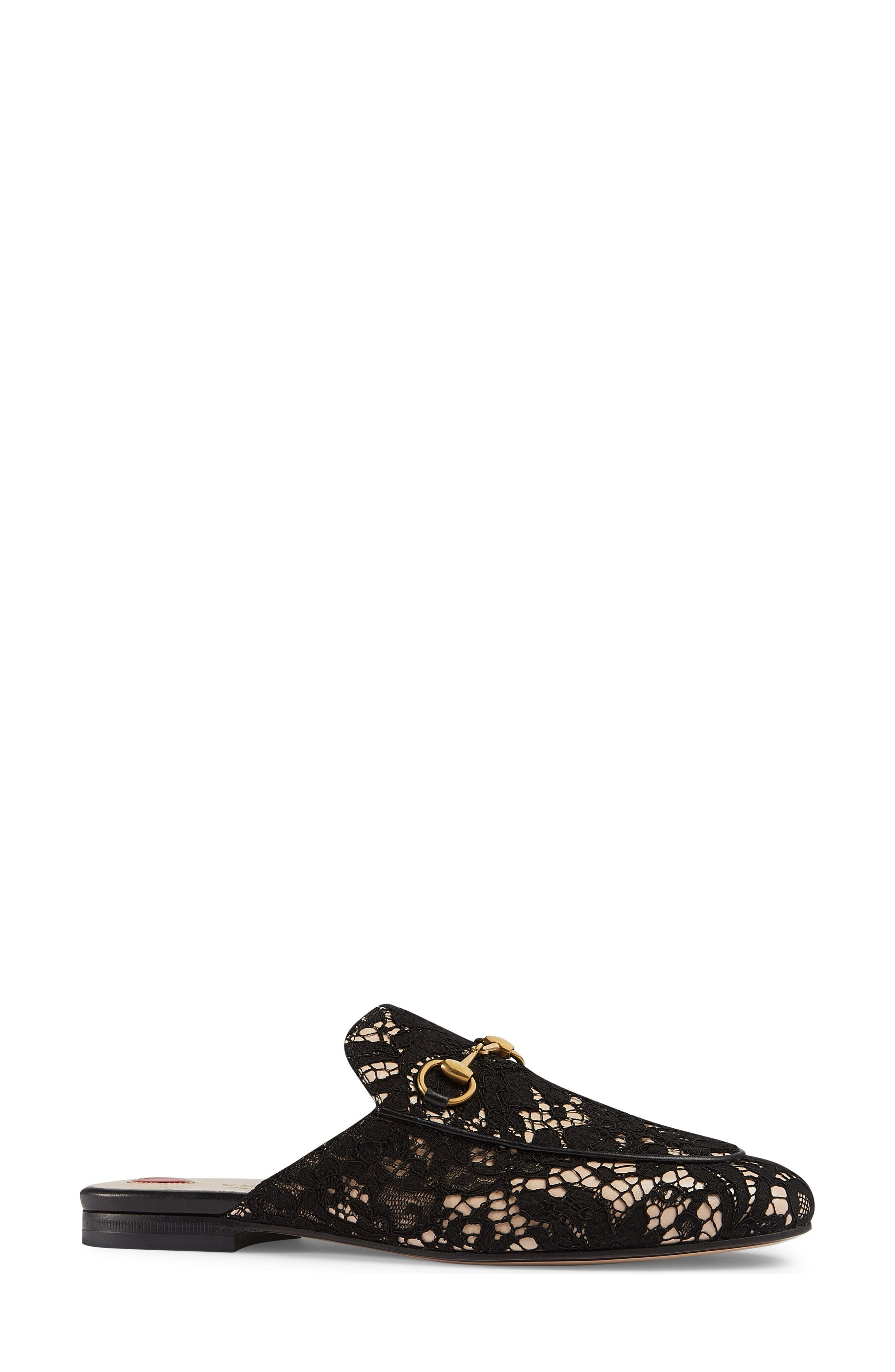 Alternate Image 2  - Gucci Lace Princetown Loafer Mule (Women)