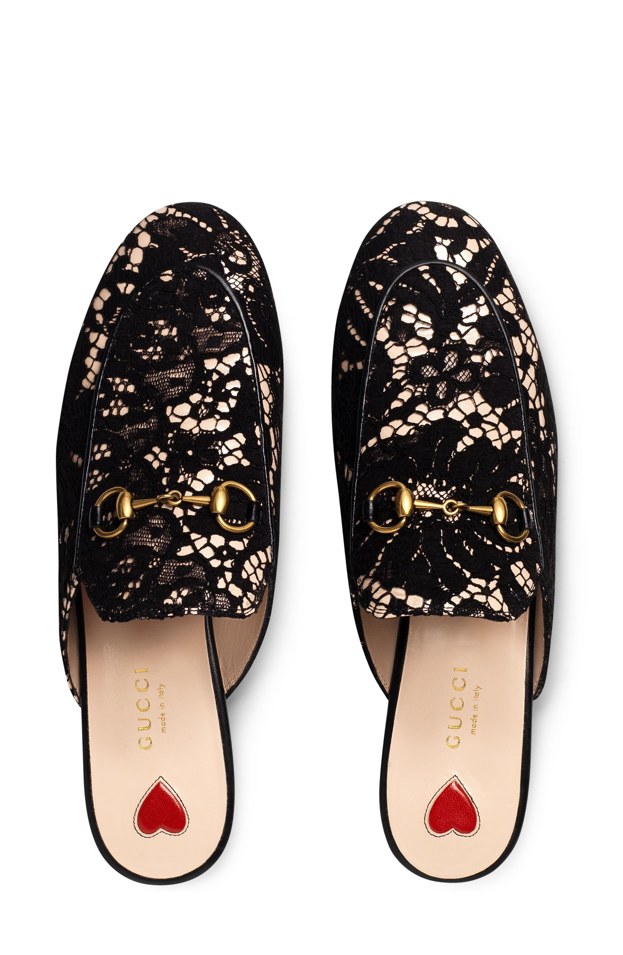 Alternate Image 3  - Gucci Lace Princetown Loafer Mule (Women)