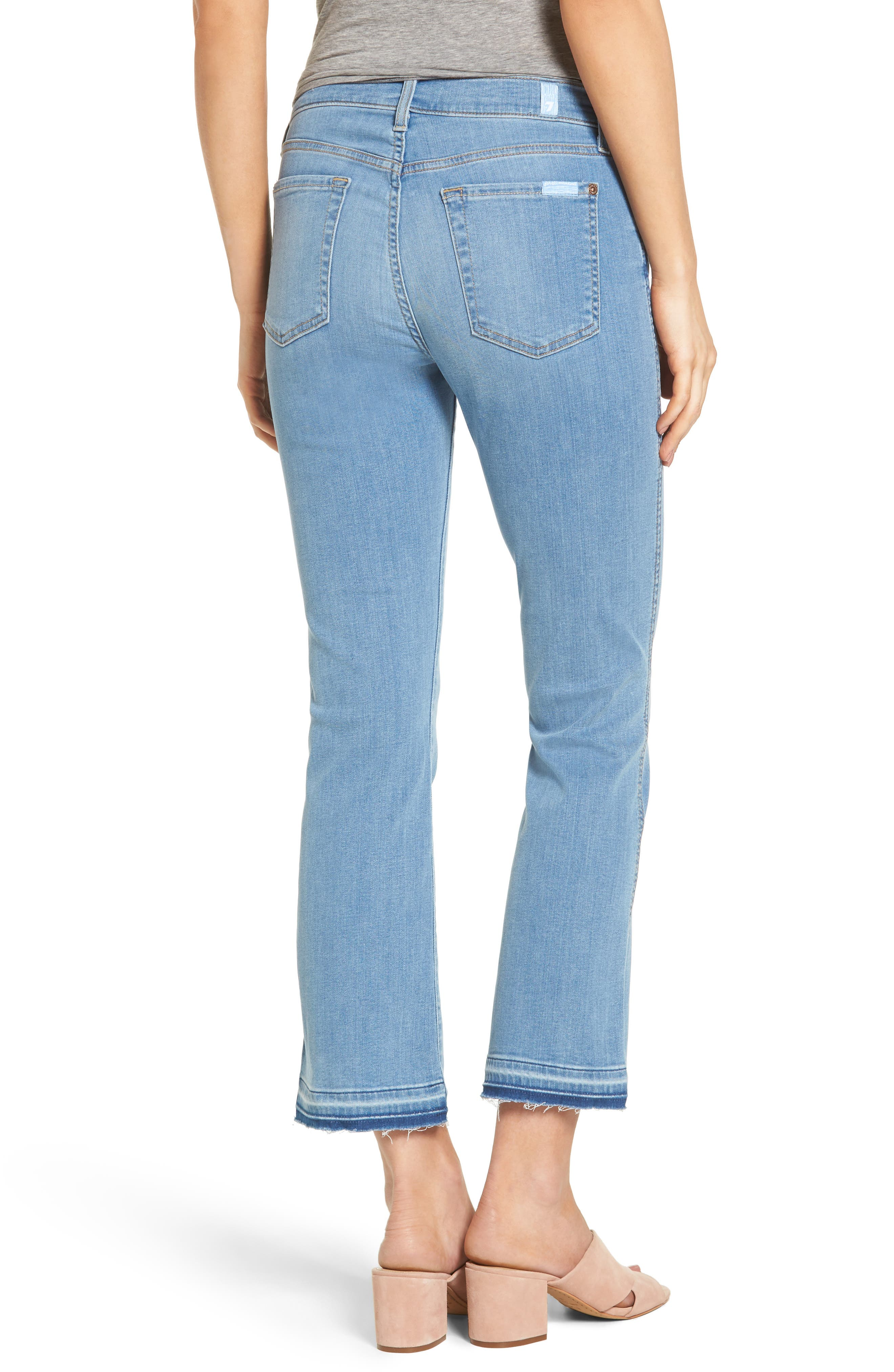 Alternate Image 2  - 7 For All Mankind® b(air) Released Hem Crop Bootcut Jeans (Bair Sunfaded 2)