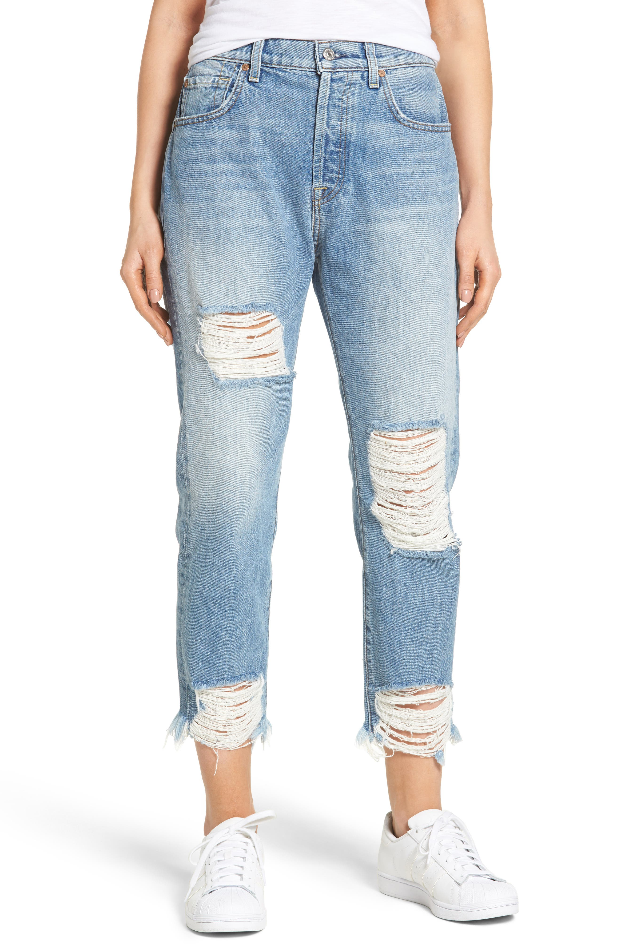 7 FOR ALL MANKIND<SUP>®</SUP> Josefina Destroyed Boyfriend Jeans