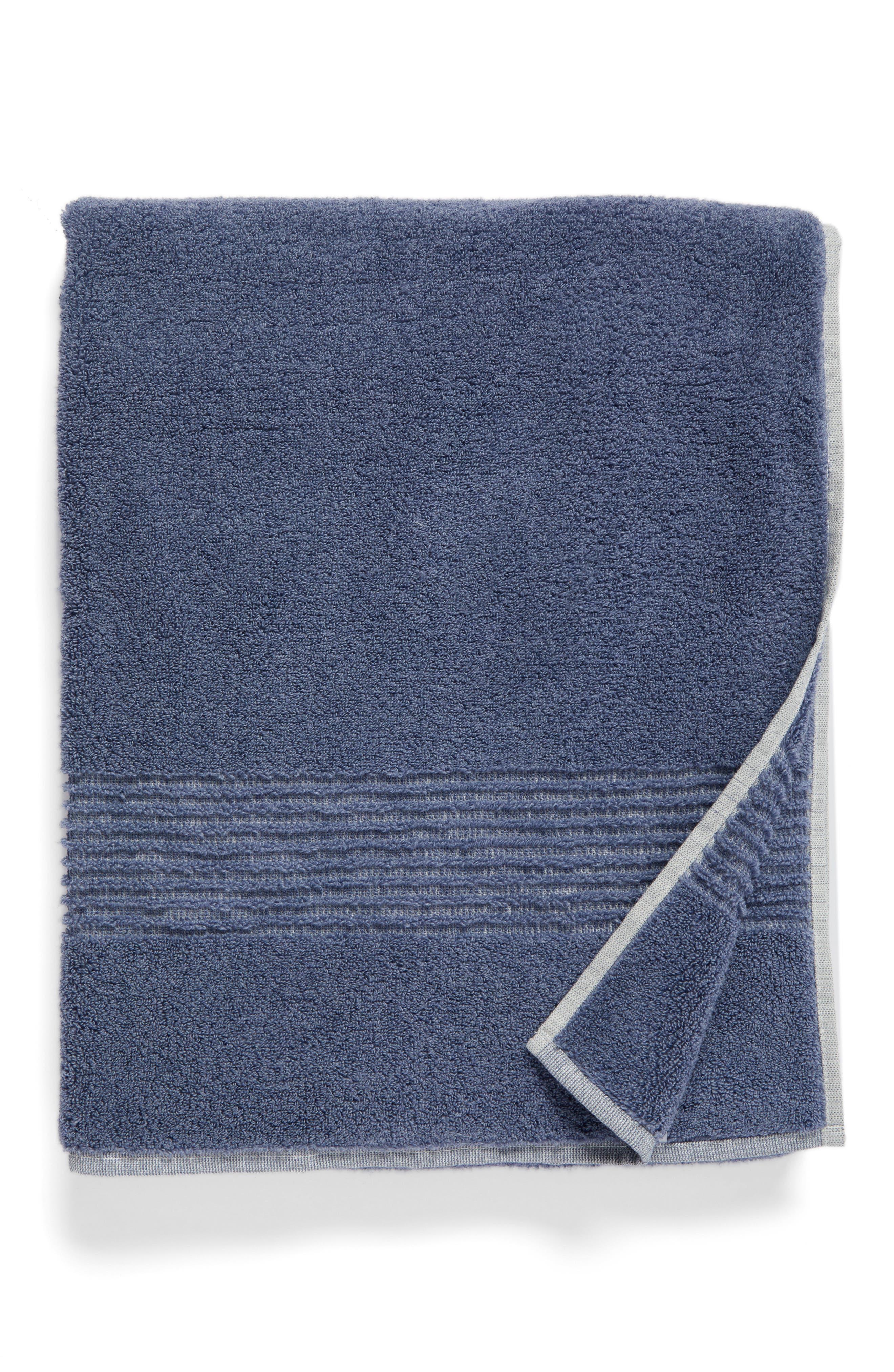 Organic Hydrocotton Bath Towel,                         Main,                         color, Navy Sky