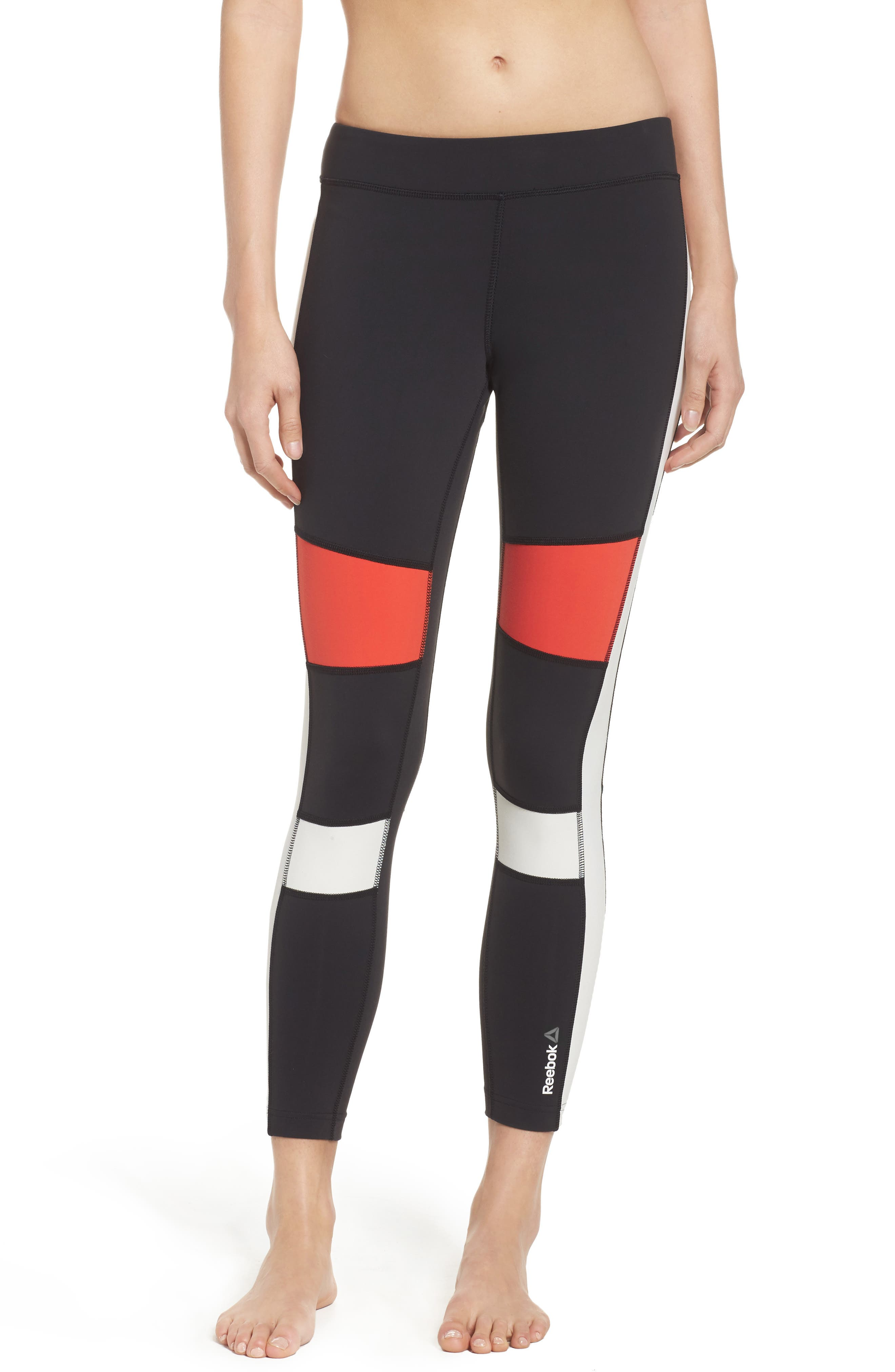 Speedwick Colorblock Tights,                             Main thumbnail 1, color,                             Black