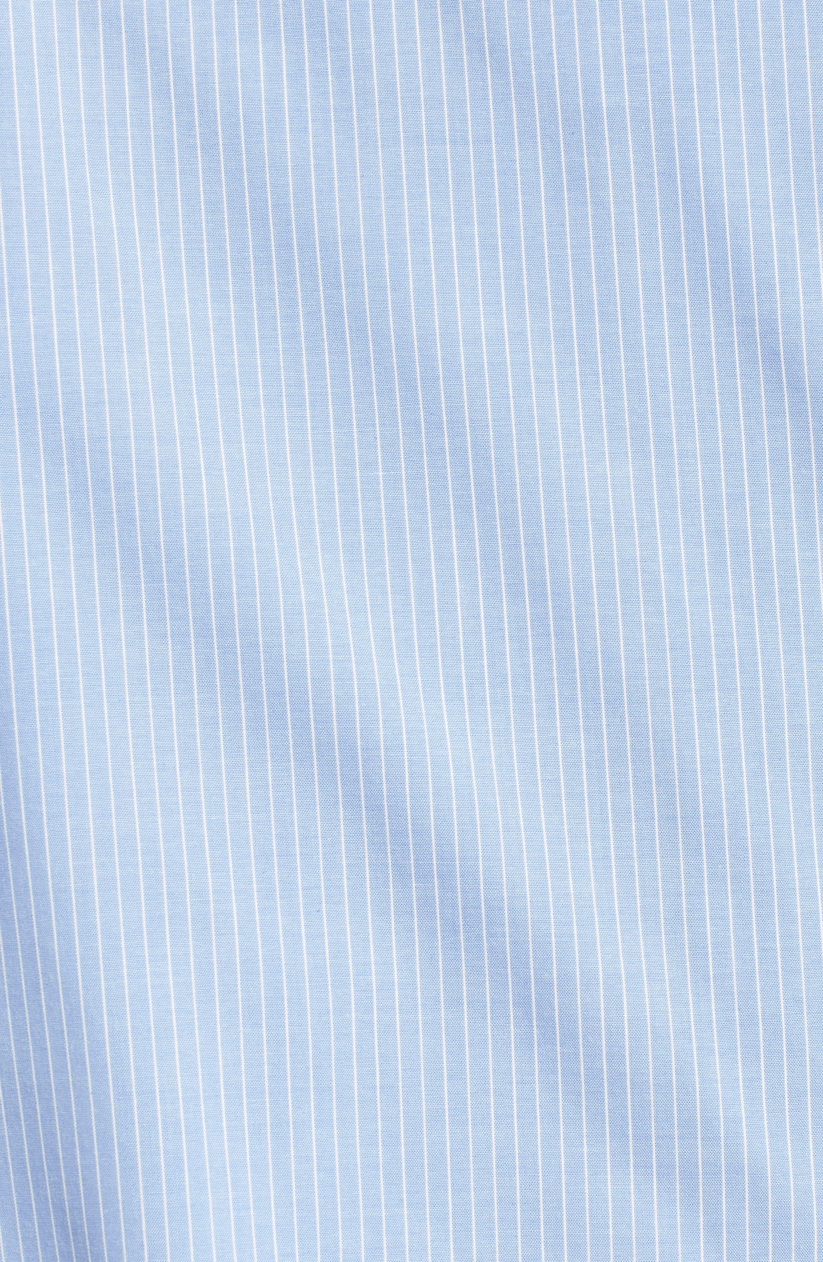 Bow Back Bell Sleeve Top,                             Alternate thumbnail 6, color,                             Light Blue- White Stripe
