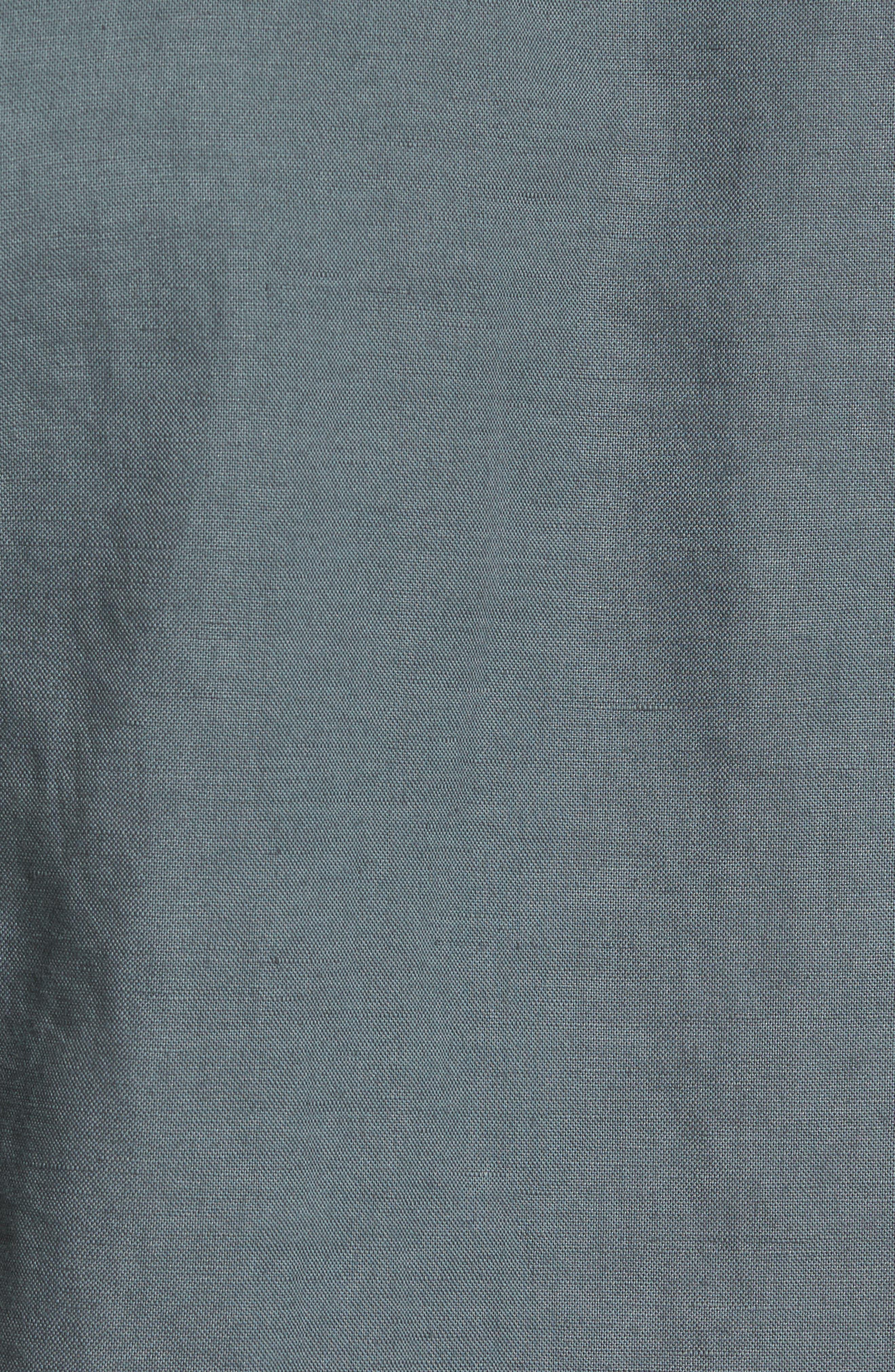 Colton Slim Fit Cotton & Linen Sport Shirt,                             Alternate thumbnail 6, color,                             Pigment Castlerock