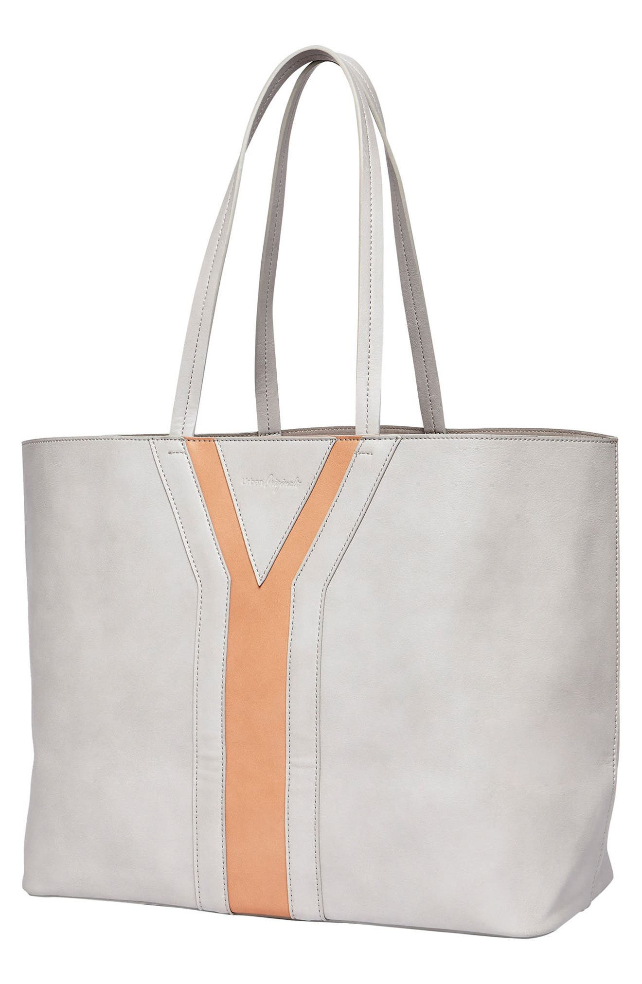 Streetstyle Vegan Leather Tote,                             Alternate thumbnail 2, color,                             Grey/ Pink