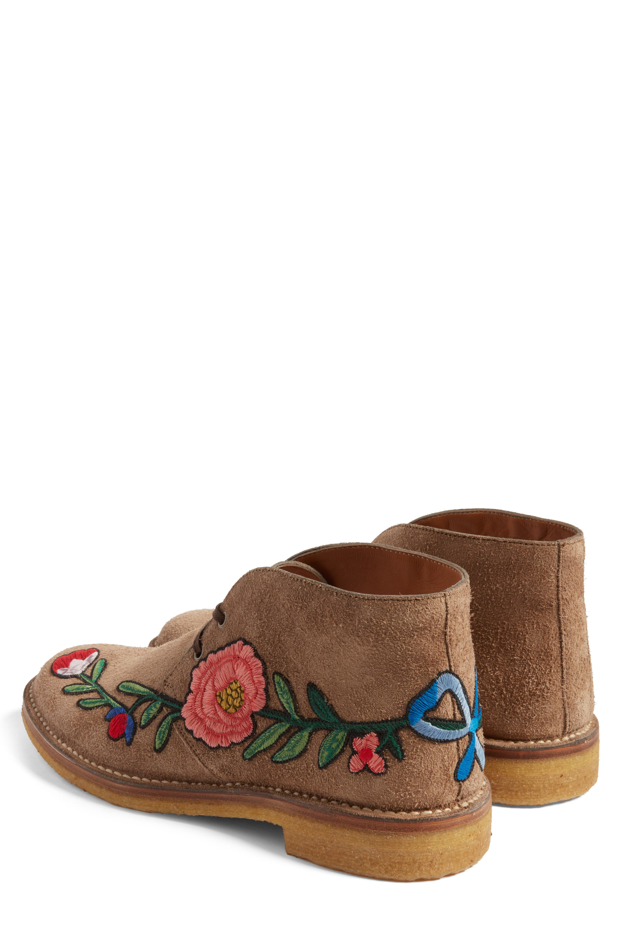 Alternate Image 2  - Gucci New Moreau Embroidered Chukka Boot (Men)