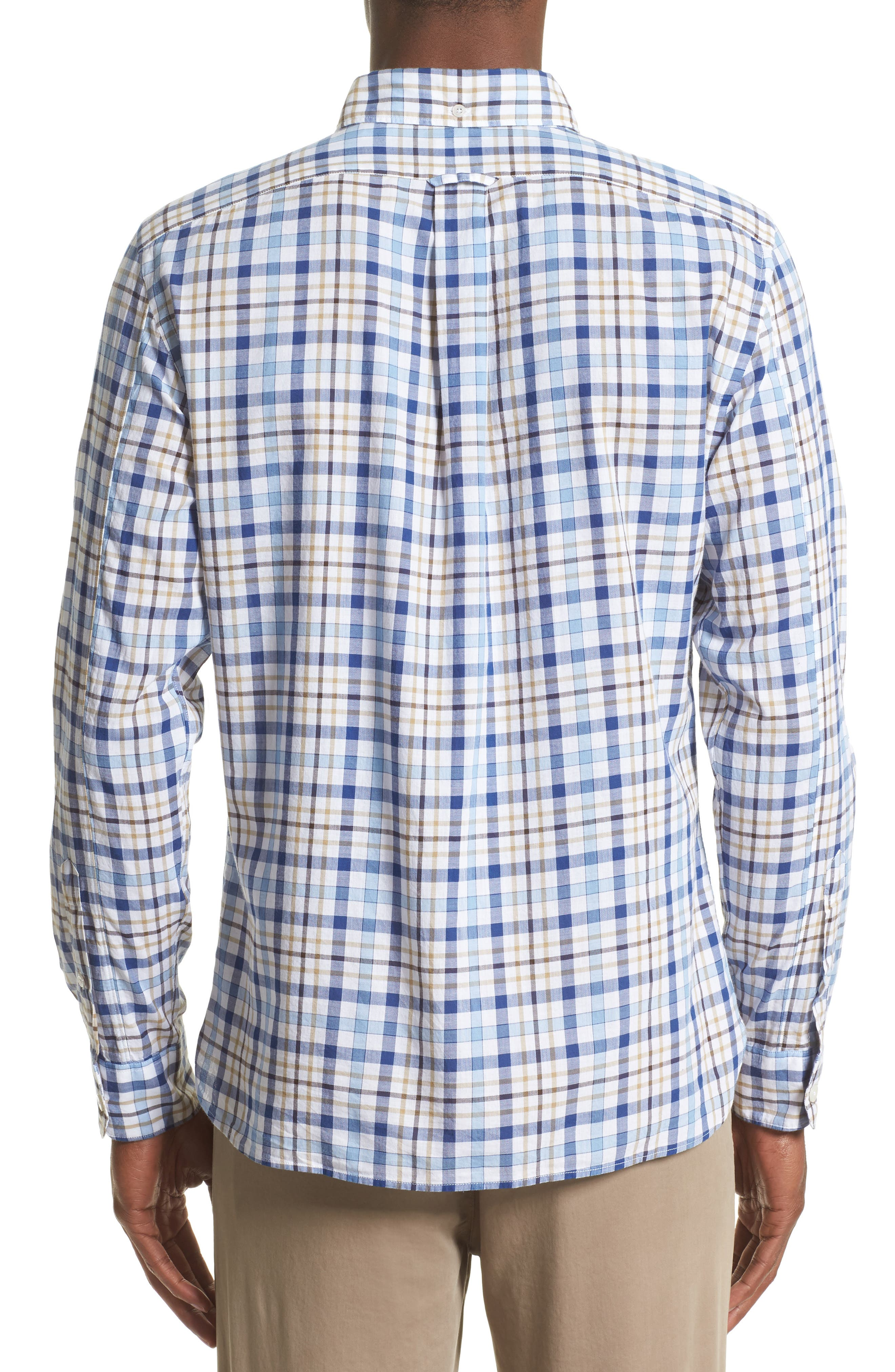 Alternate Image 2  - Todd Snyder Trim Fit Plaid Sport Shirt