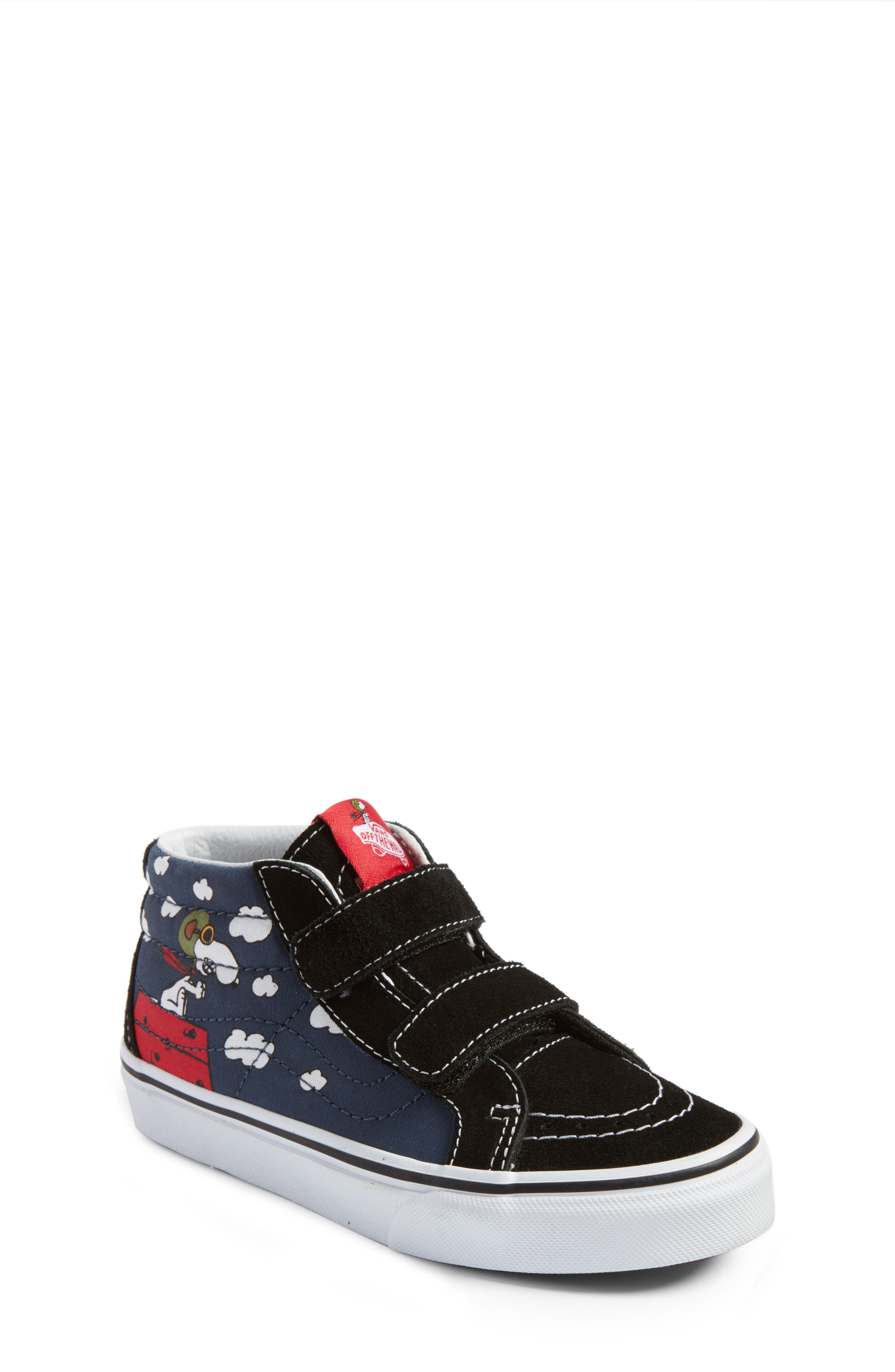 x Peanuts SK8-Mid Reissue V Sneaker,                             Main thumbnail 1, color,                             Flying Ace/ Blue Canvas