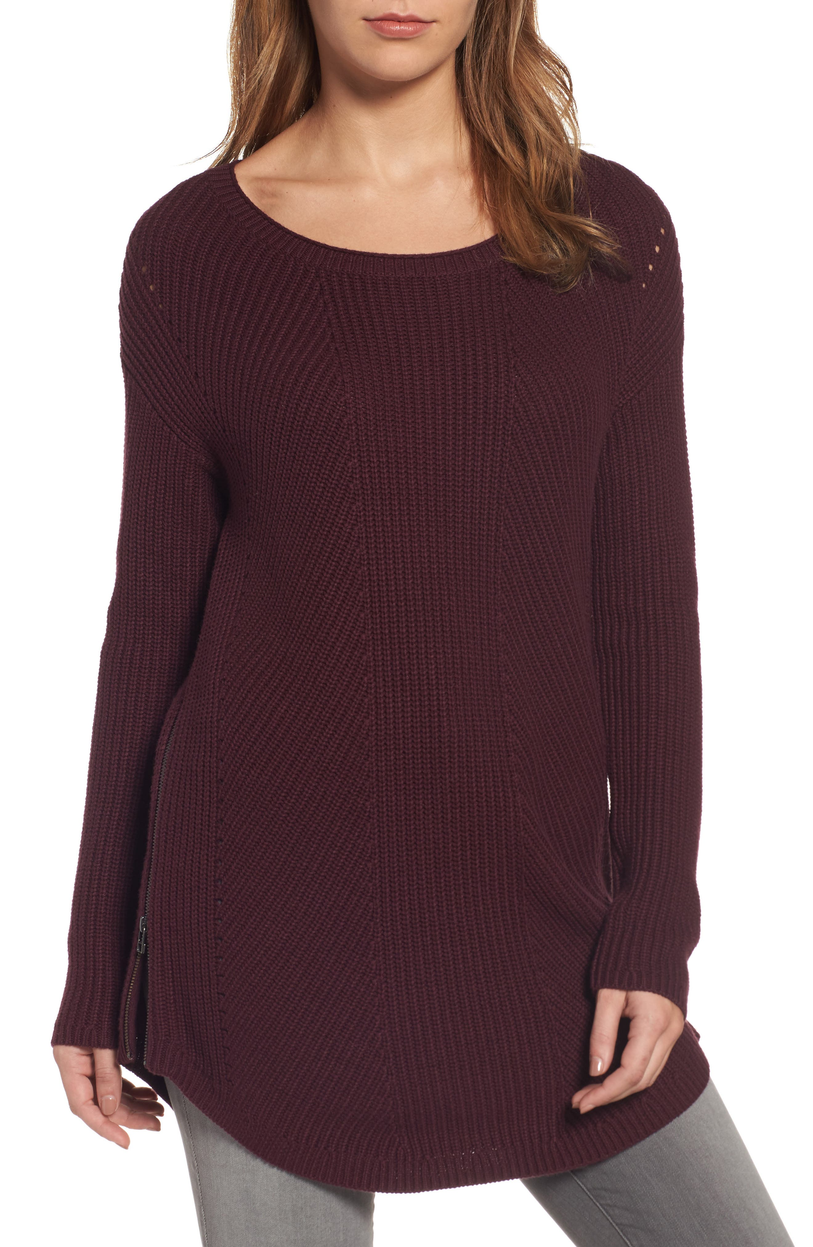 Caslon® Rib Knit Cotton Tunic
