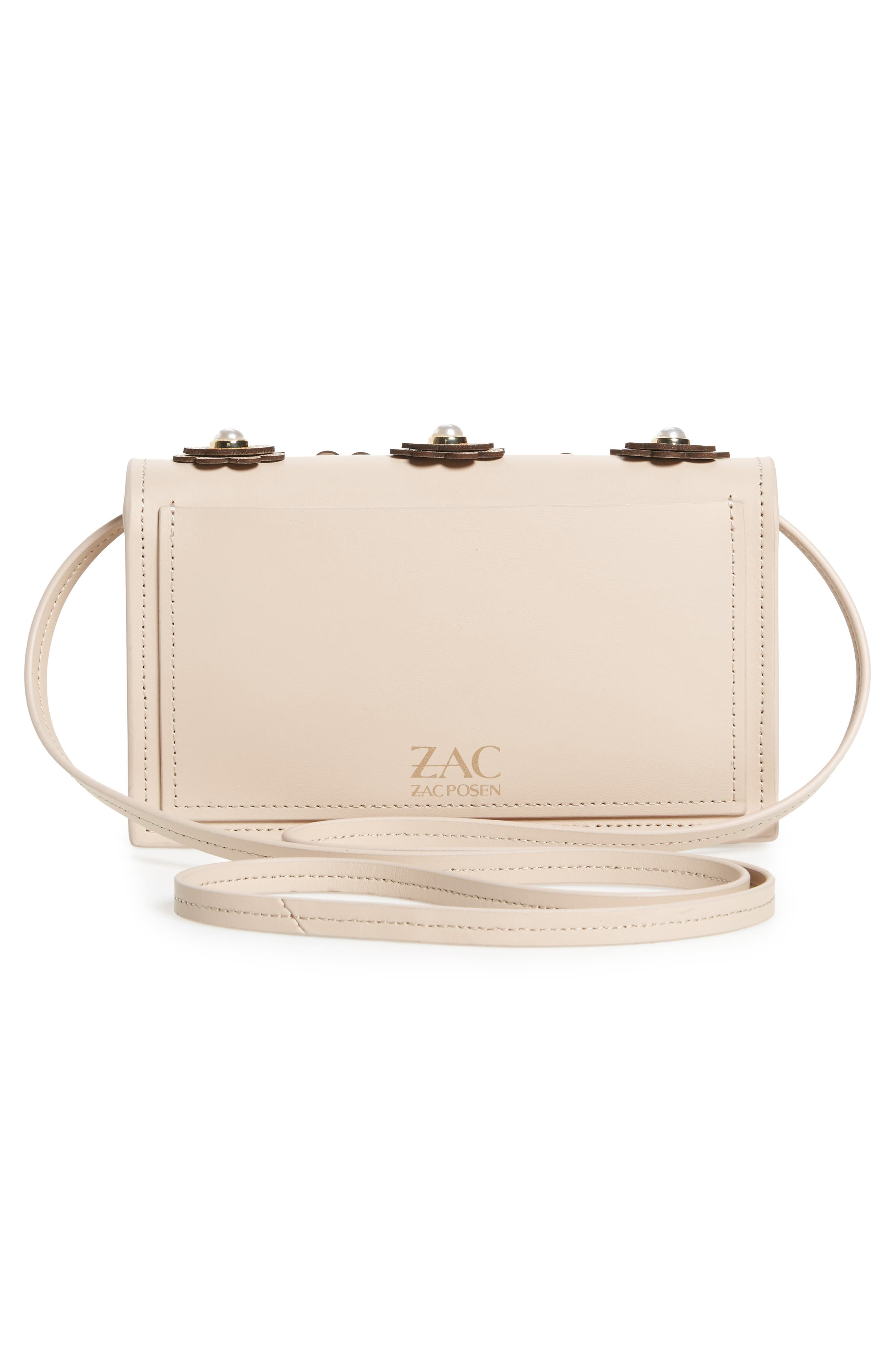 Alternate Image 3  - ZAC Zac Posen Earthette Leather Crossbody Bag
