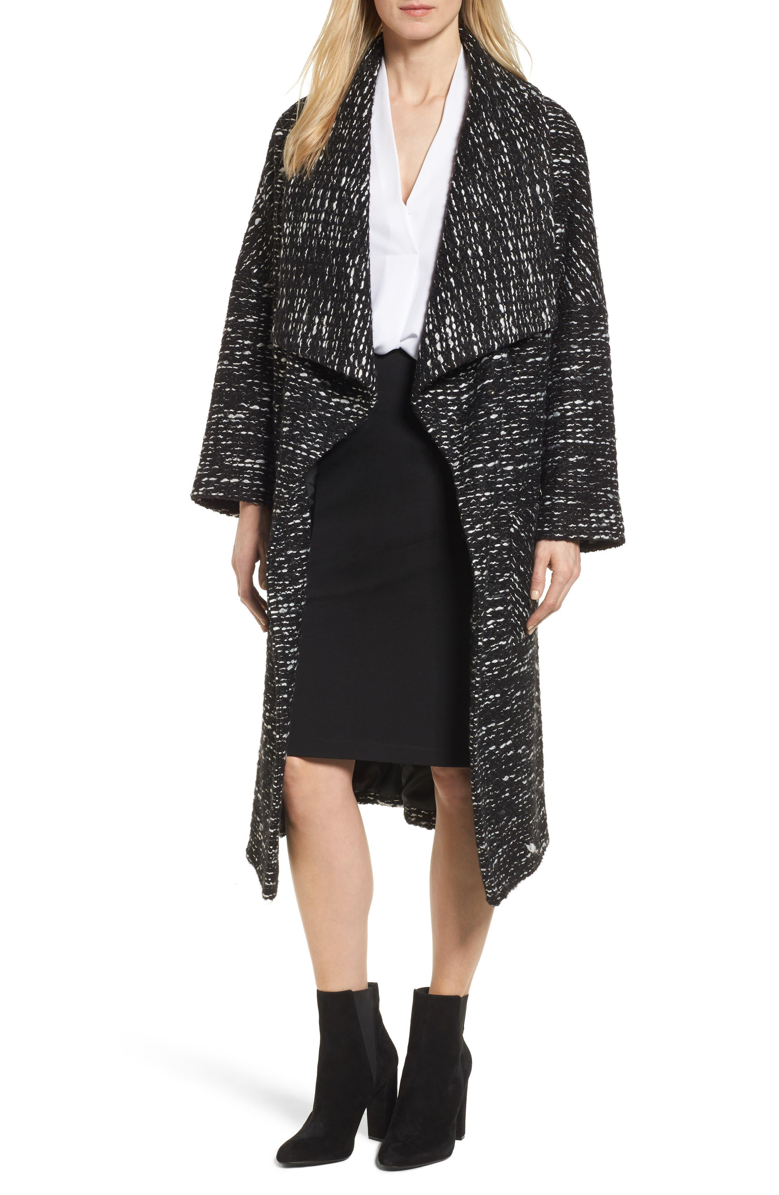Alternate Image 1 Selected - Charles Gray London Drape Front Long Clutch Coat