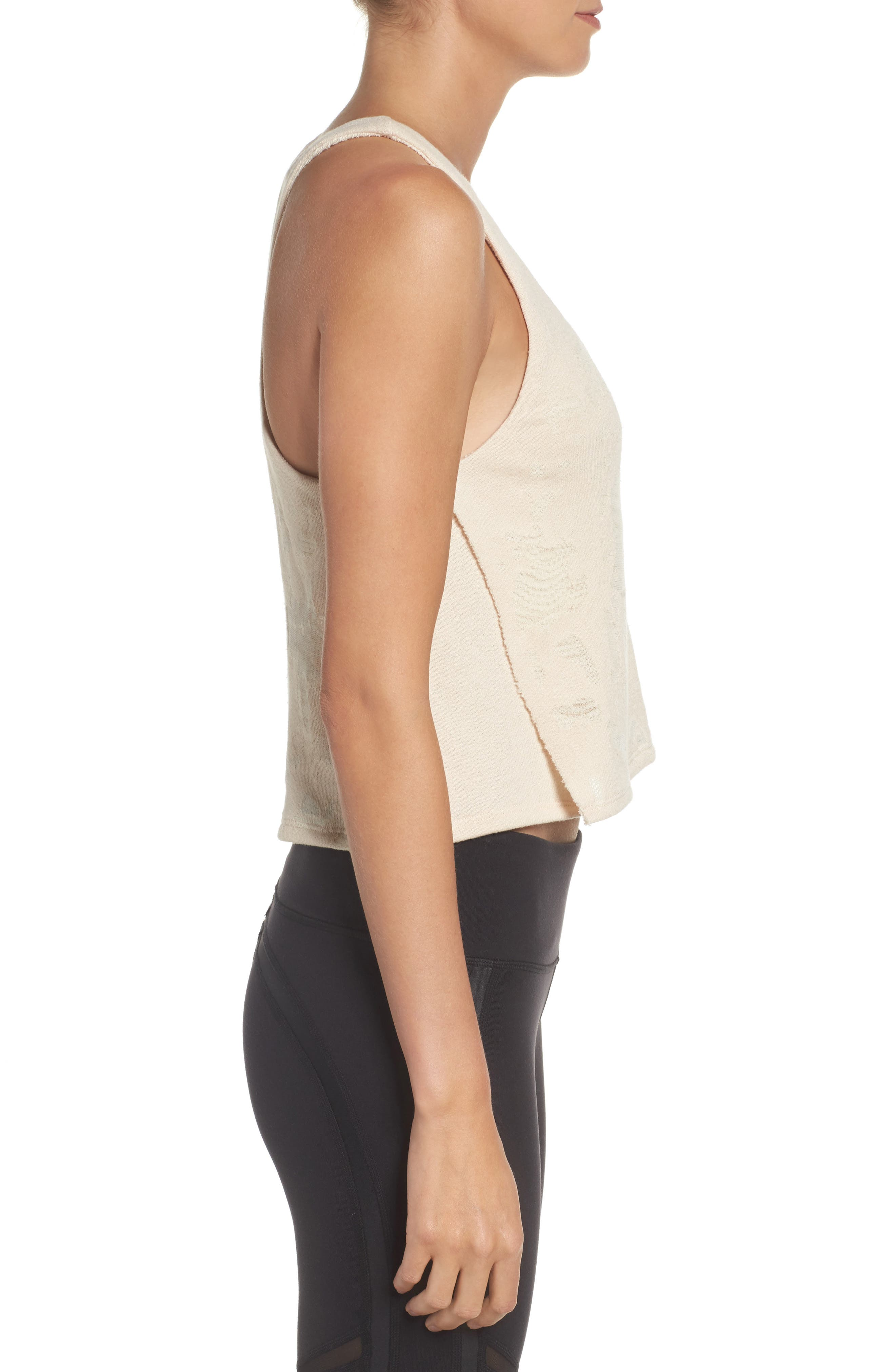 Step Crop Tank,                             Alternate thumbnail 3, color,                             Rich Sand Distressed