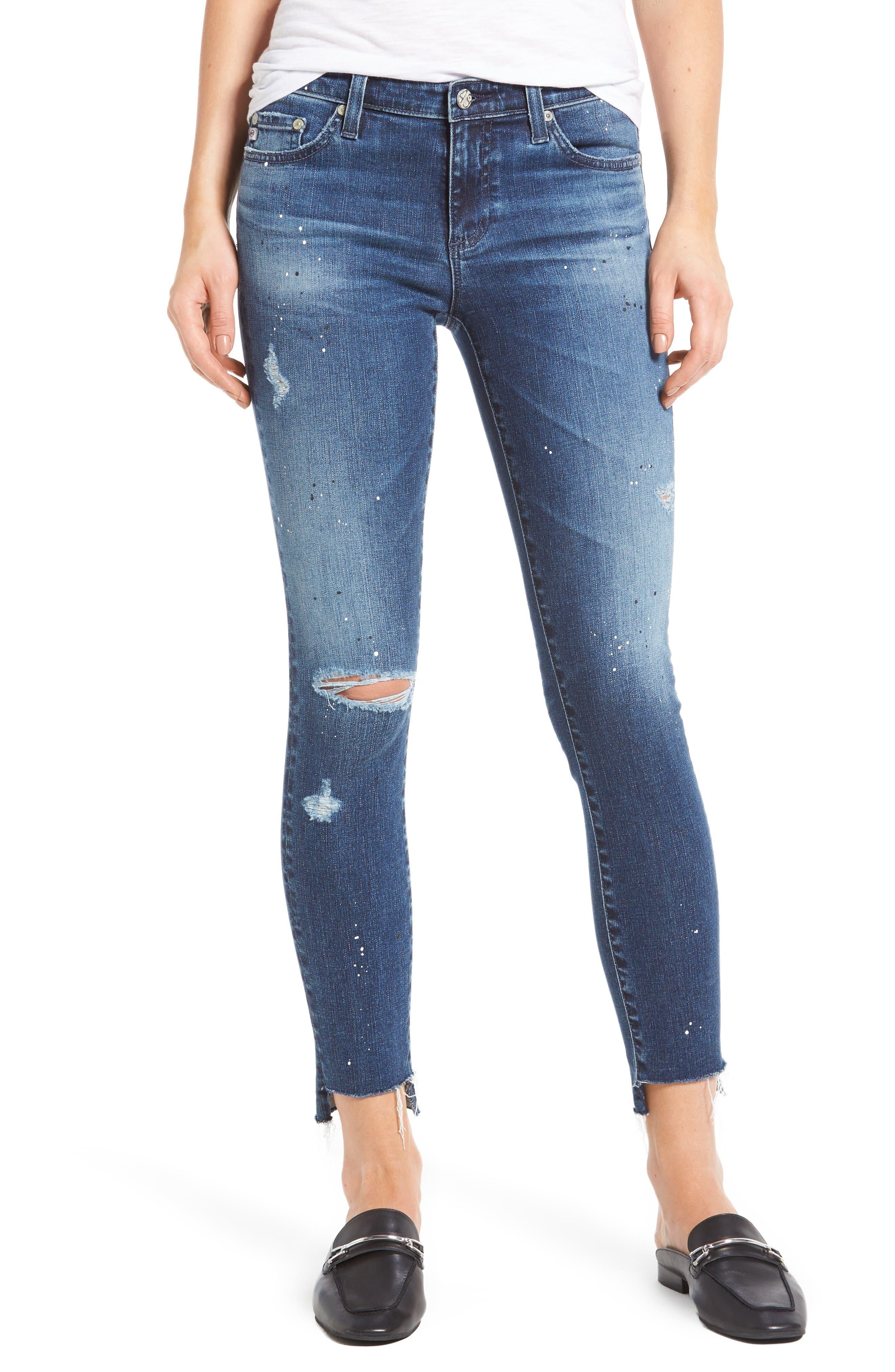 Alternate Image 1 Selected - AG The Legging Step Hem Ankle Skinny Jeans (10 Years Beatnik)