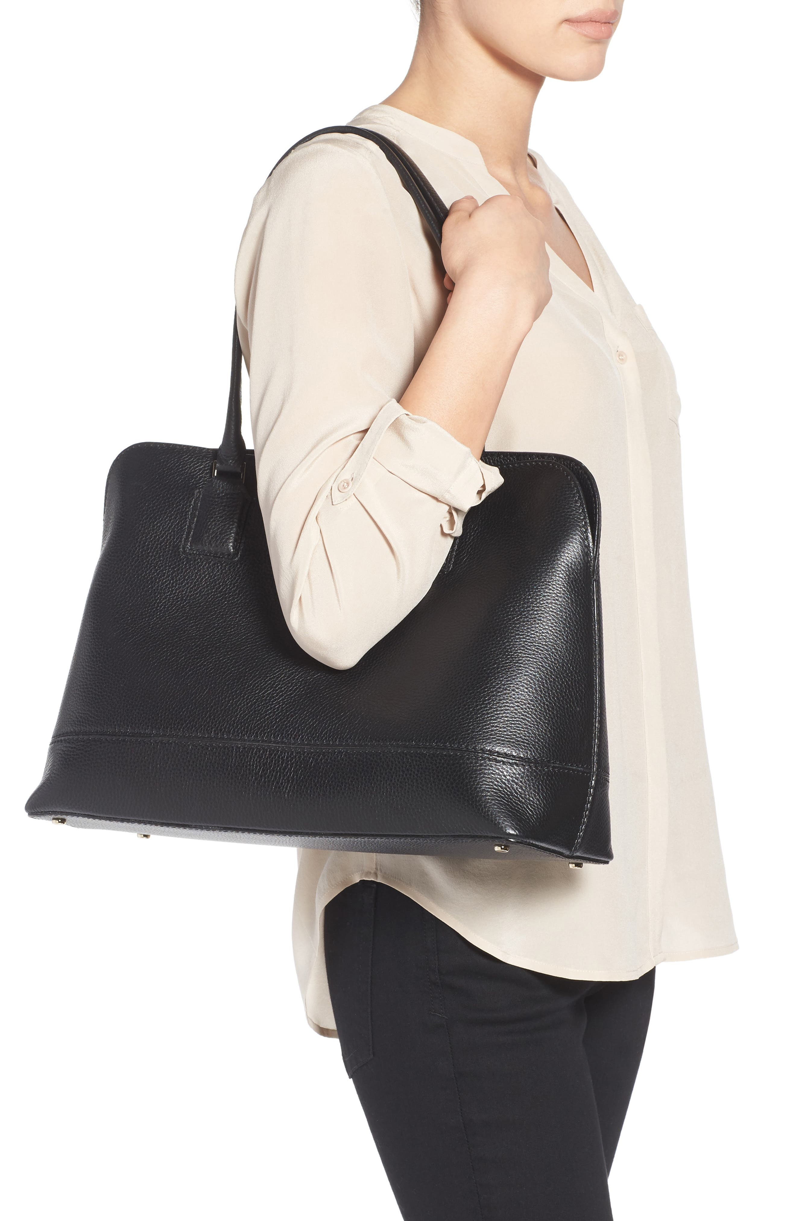 Alternate Image 2  - kate spade new york young lane - marybeth leather tote with removable laptop sleeve